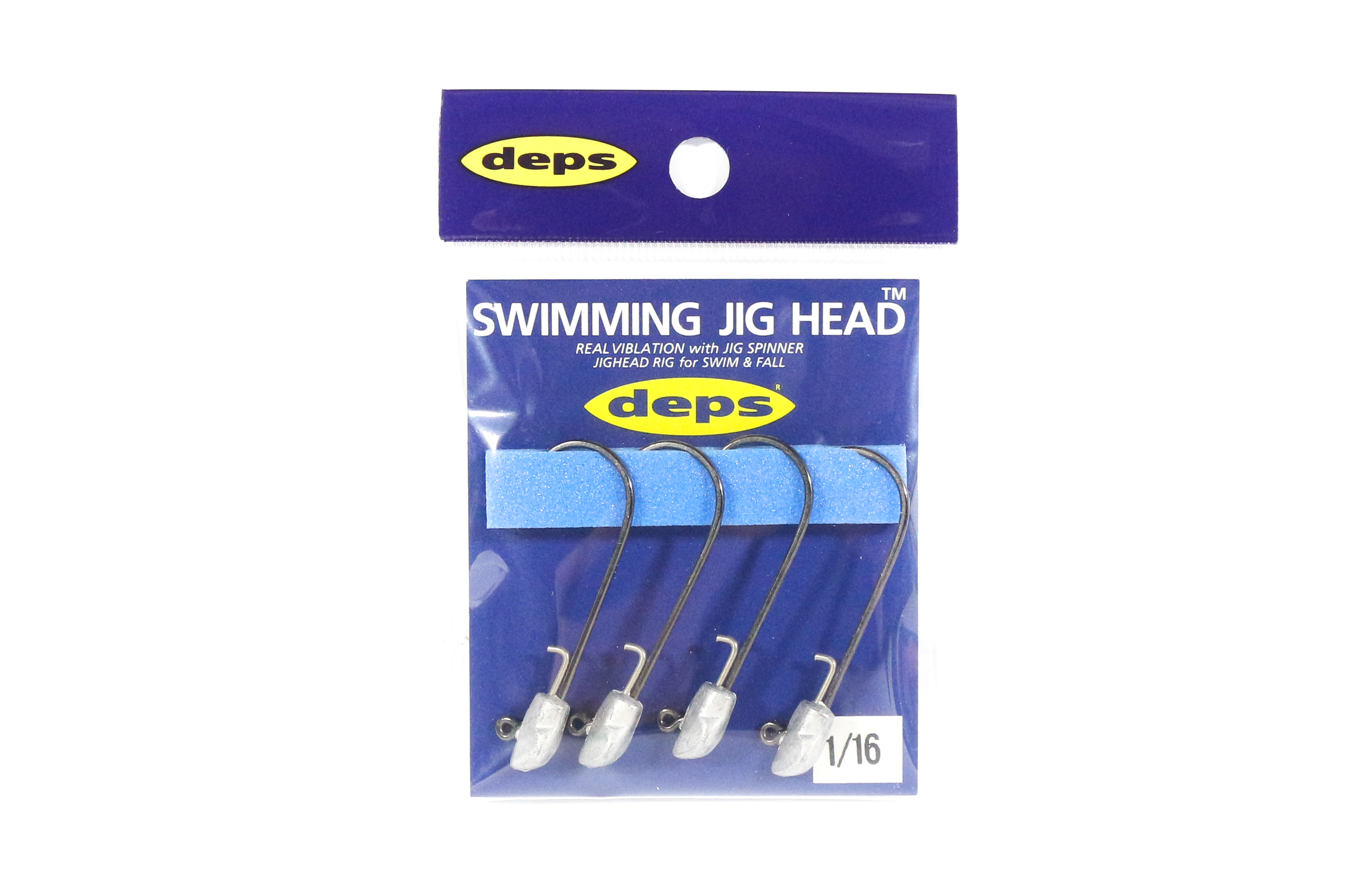 Deps Swimming Jighead 1/16 oz Size 3/0 , 4 piece per pack (0015)