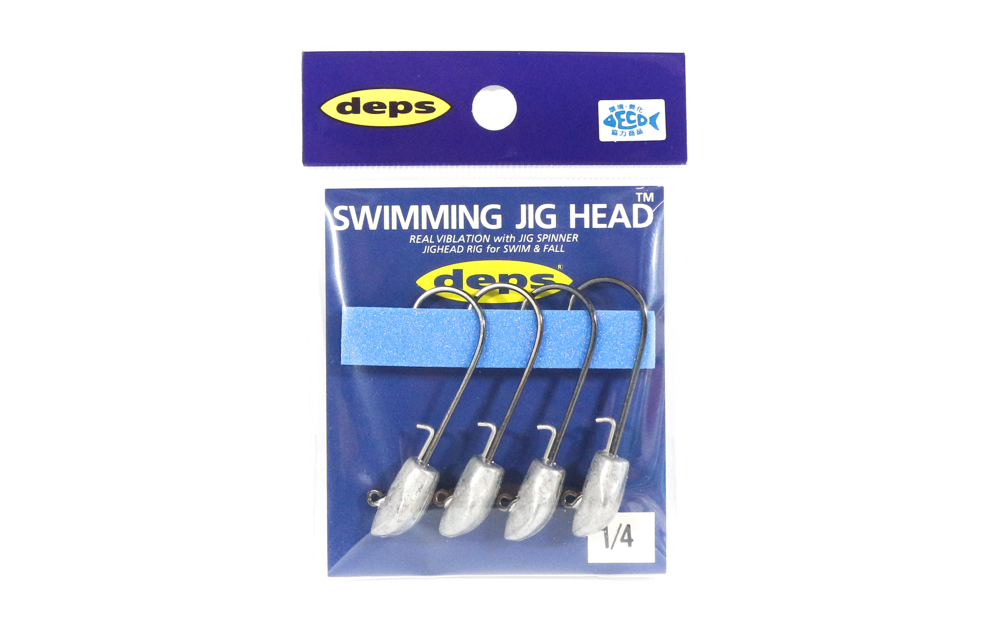Deps Swimming Jighead 1/4 oz Size 3/0 , 4 piece per pack (0046)