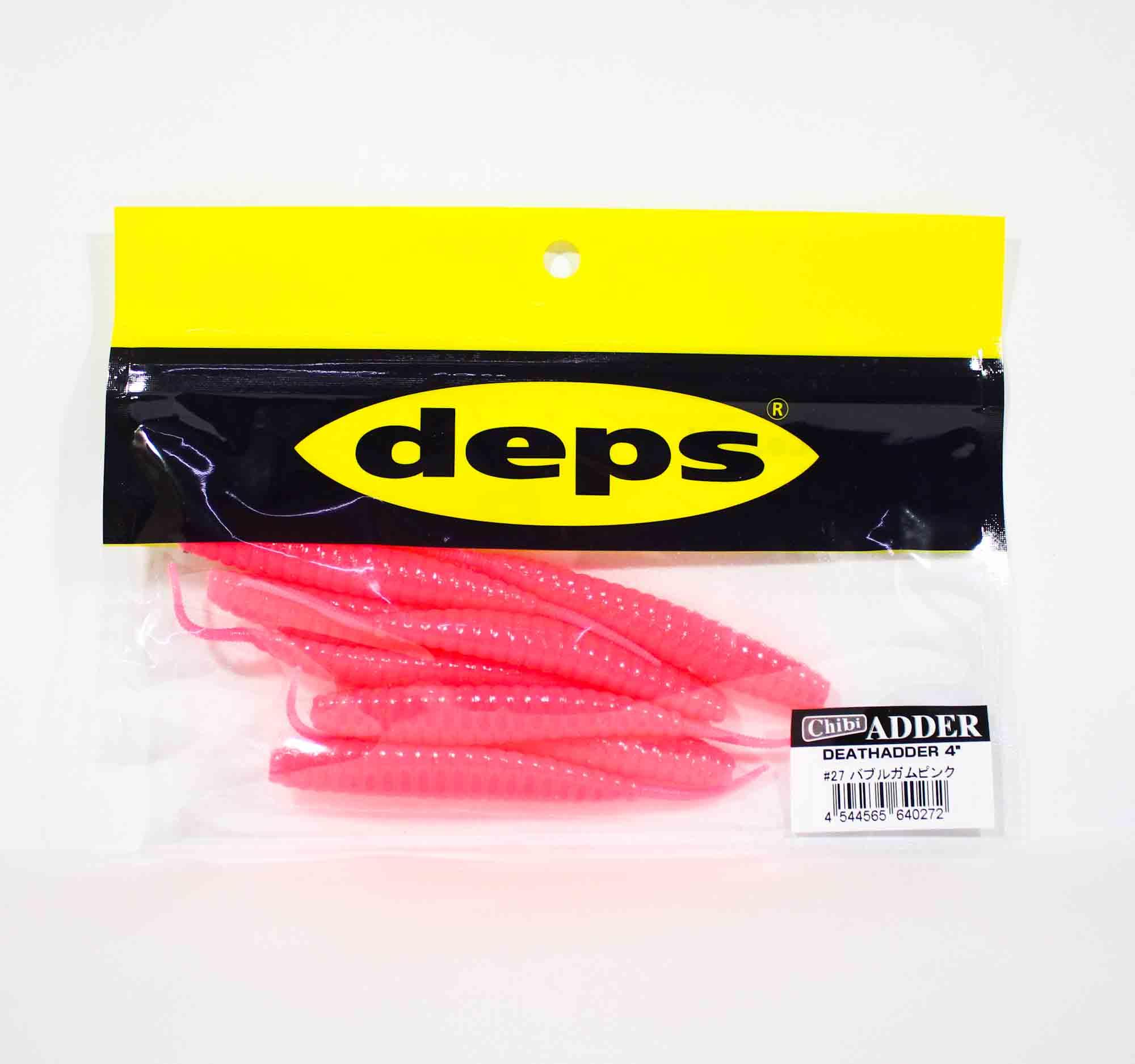 Deps Soft Lure Death Adder 4 Inch 8 per pack 27 (0272)