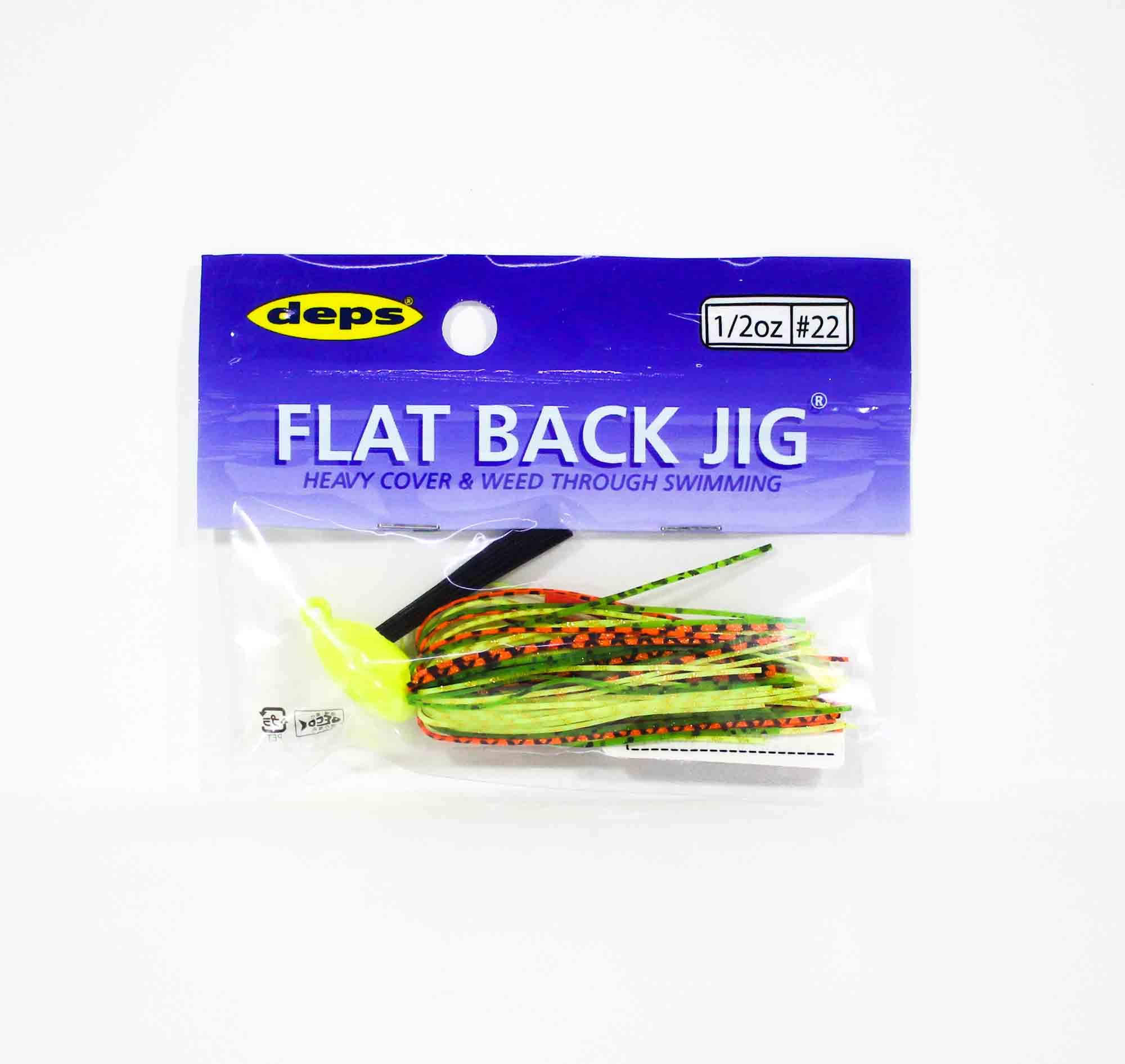 Deps Flat Back Jig Rubber 1/2 oz 22 (0223)