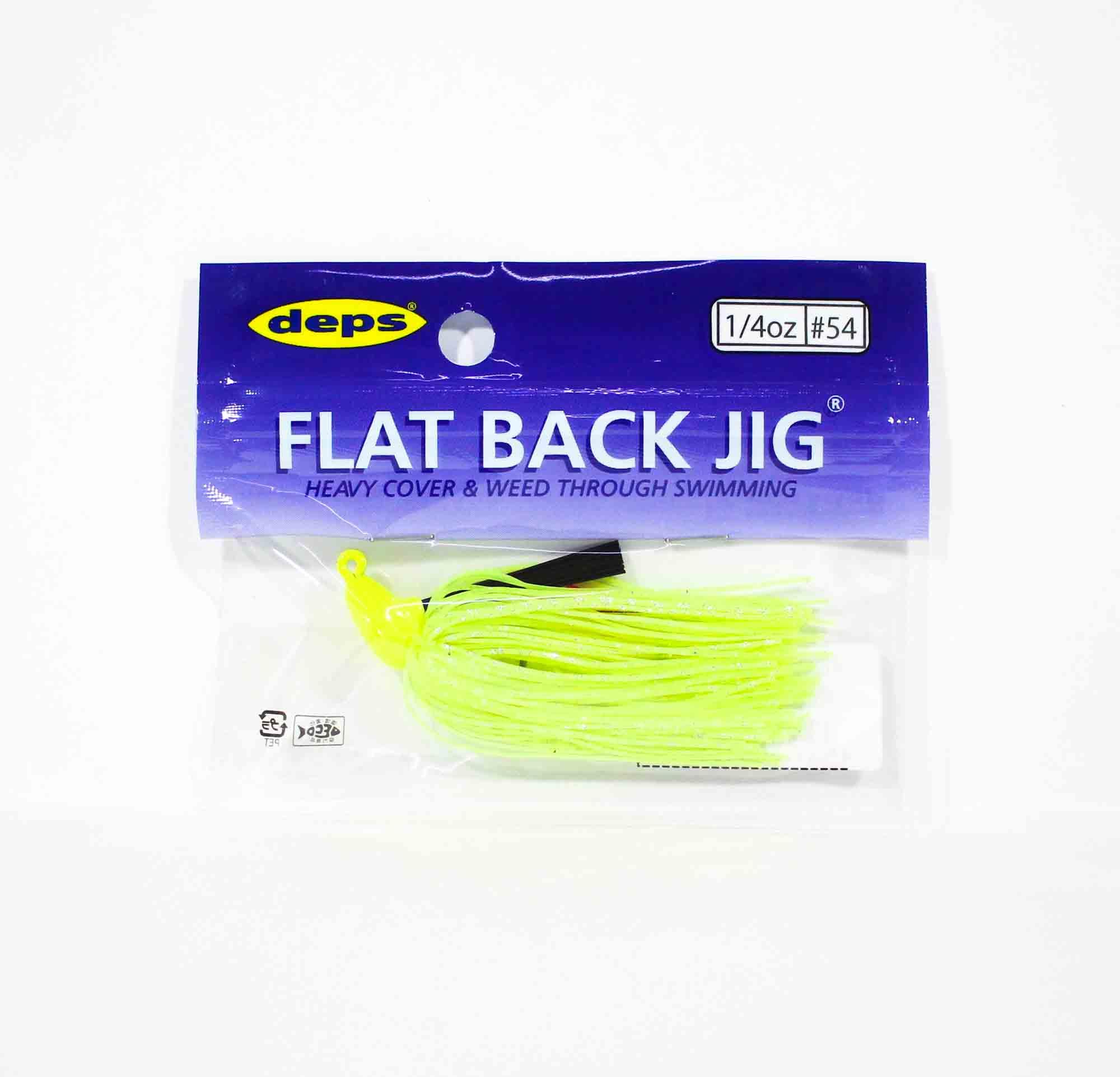 Deps Flat Back Jig Rubber 1/4 oz 54 (0546)