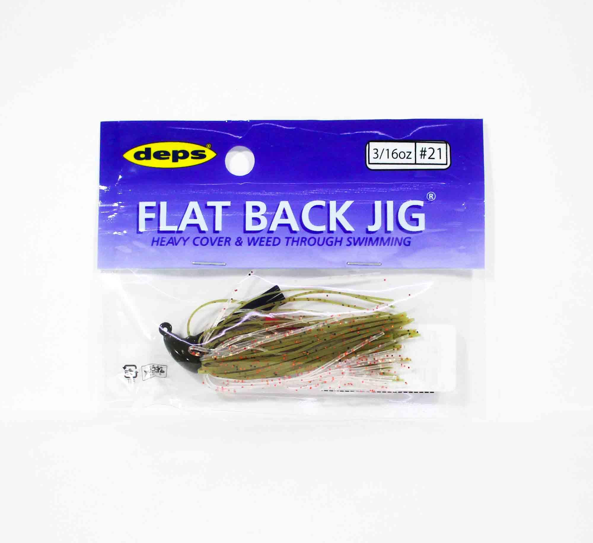 Deps Flat Back Jig Rubber 3/16 oz 21 (5213)