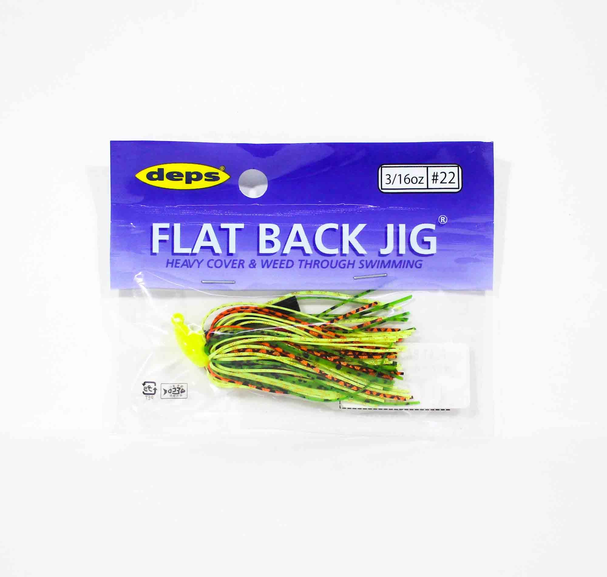 Deps Flat Back Jig Rubber 3/16 oz 22 (5220)