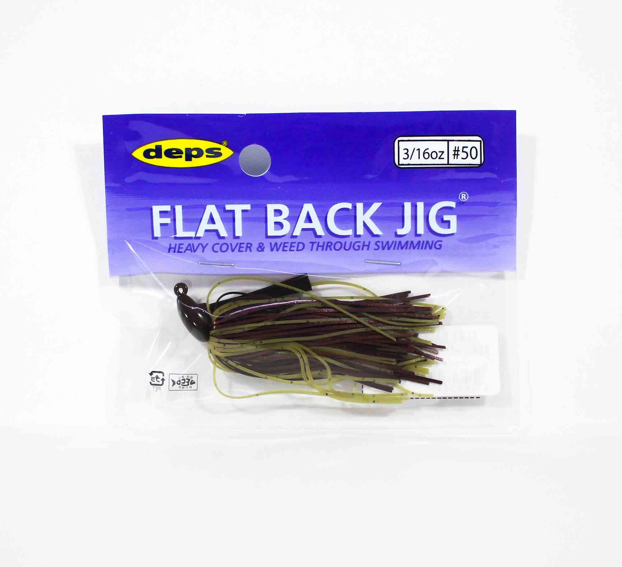Deps Flat Back Jig Rubber 3/16 oz 50 (5503)