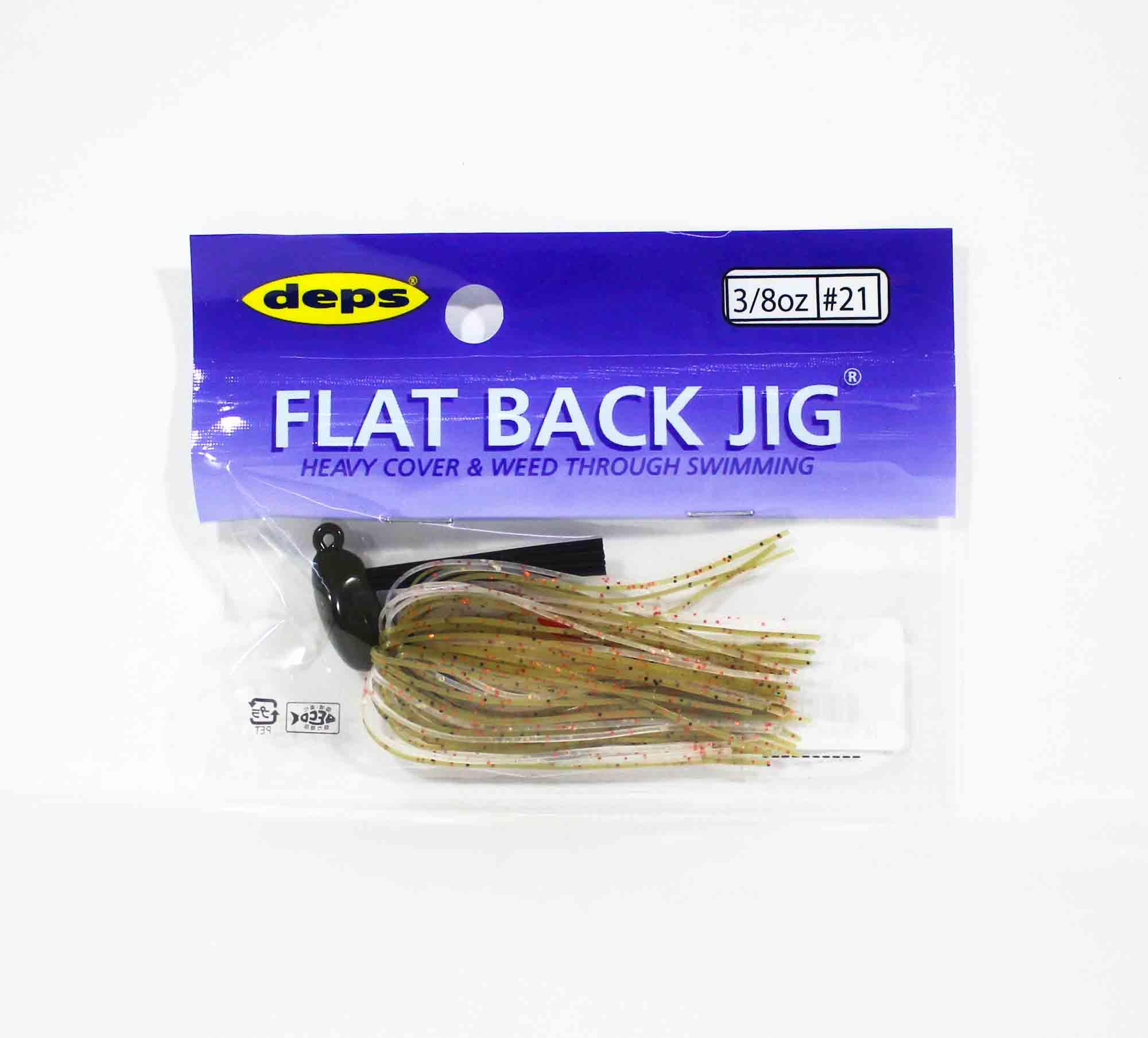 Deps Flat Back Jig Rubber 3/8 oz 21 (0217)