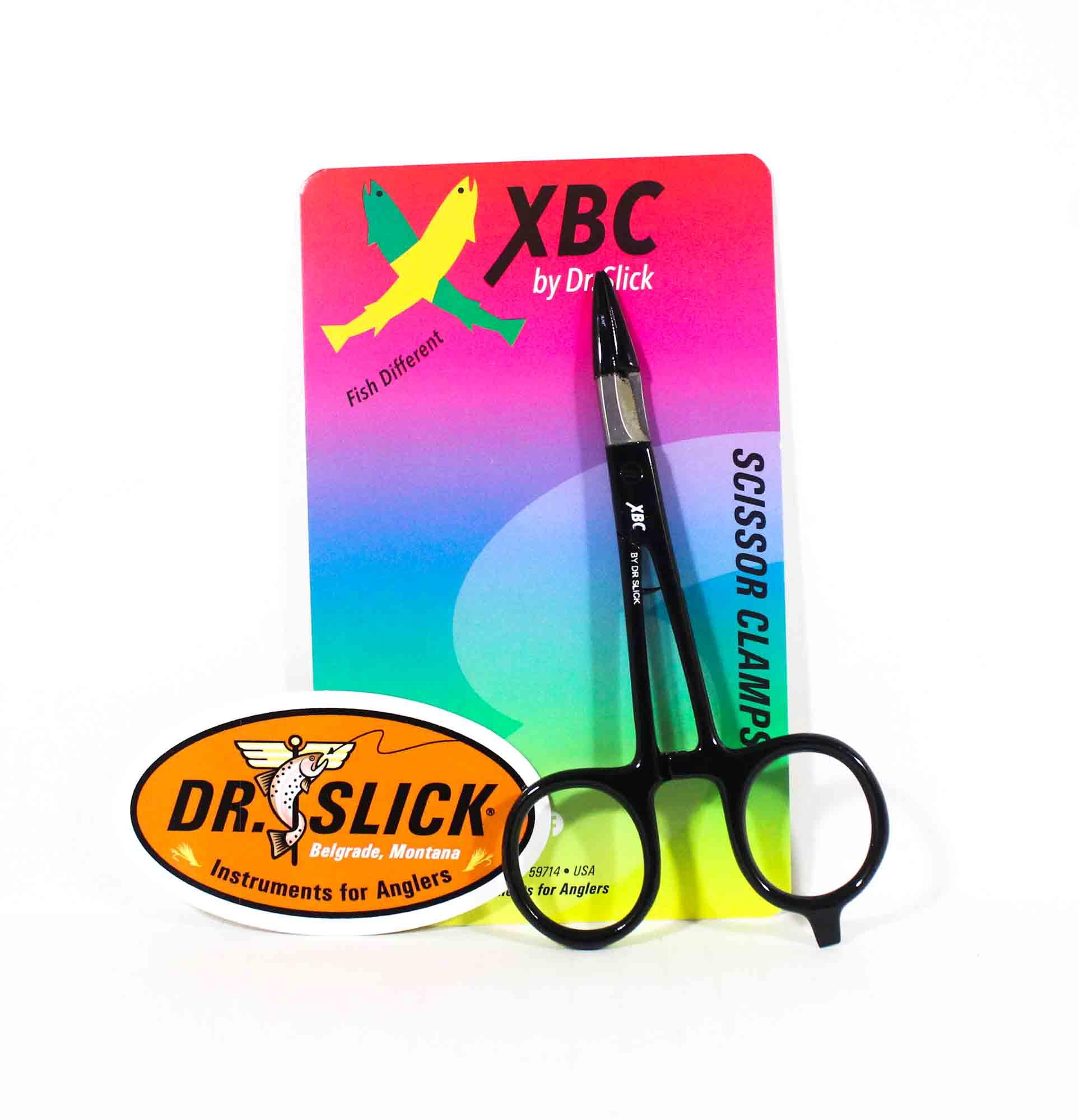 Dr Slick SNH5BLACK XBC Scissor Clamp 5 Inch Straight Black (6171)
