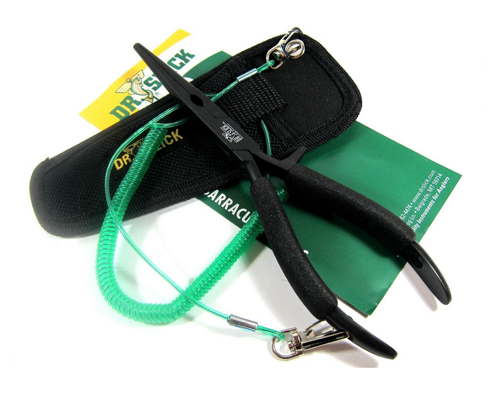 Dr Slick Barracuda Fishing Pliers Long Nose 8.5 Inches Black (1879)