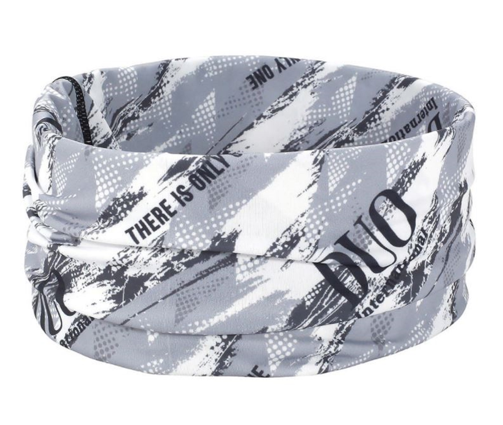Duo Neck Gaiter UV Head Wear Free Size Original Grey Geo (4470)