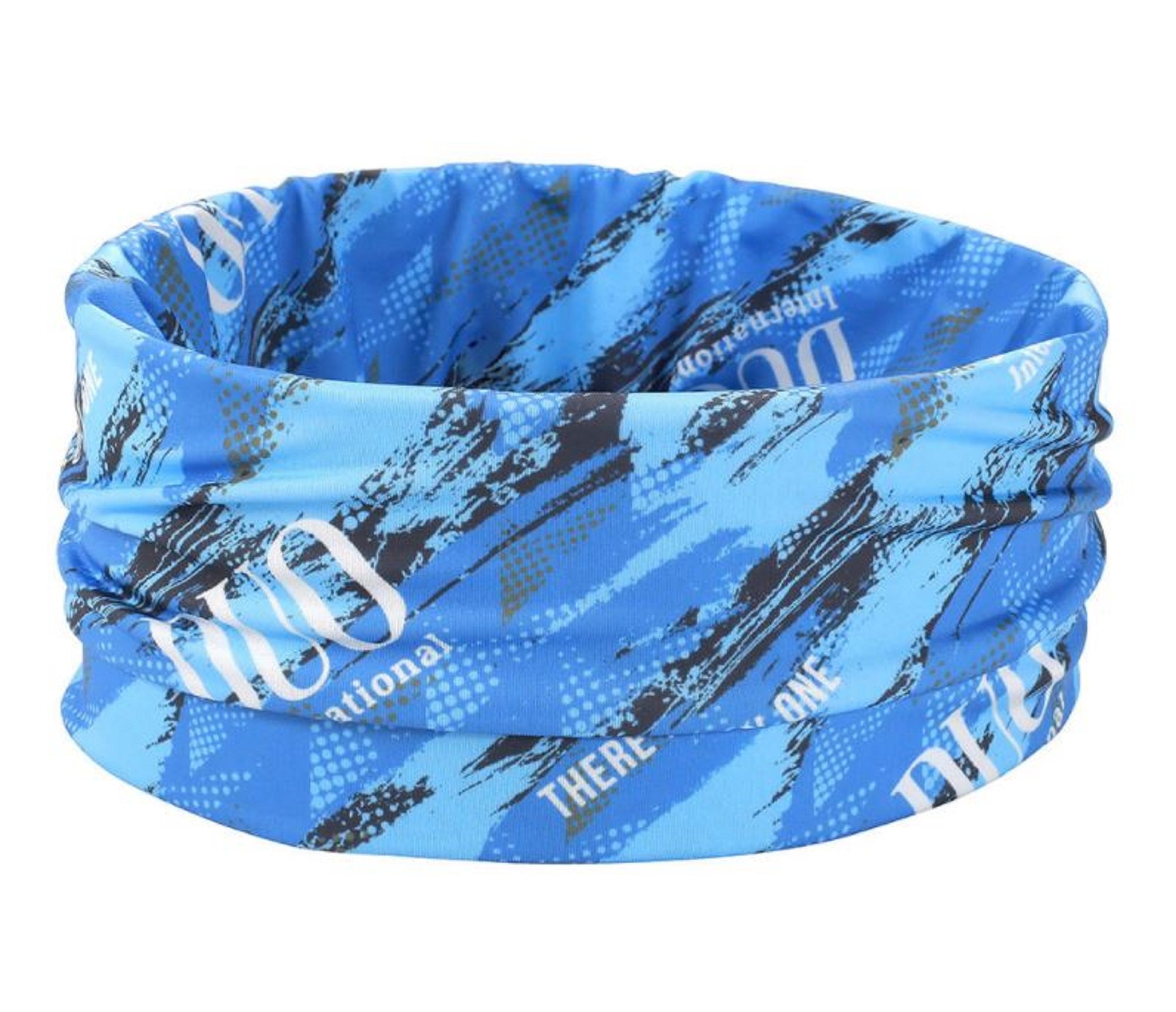 Duo Neck Gaiter UV Head Wear Free Size Original Blue Geo (4487)