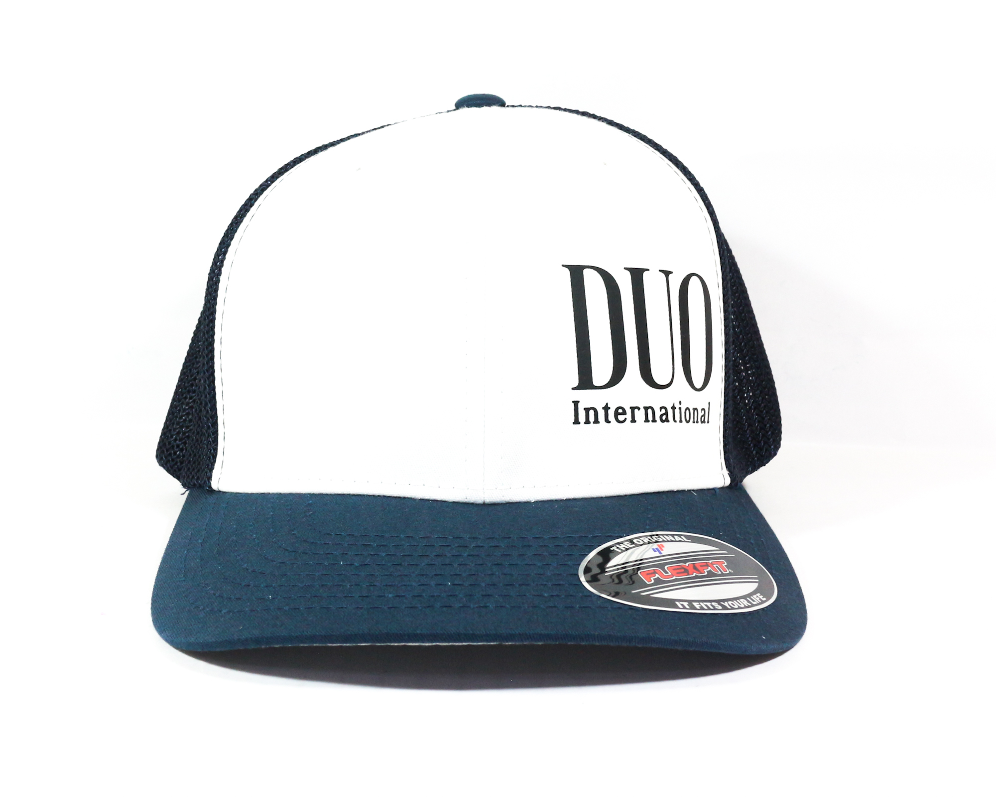 Duo Cap FF Cap Original Japan Free Size Navy White (6973)