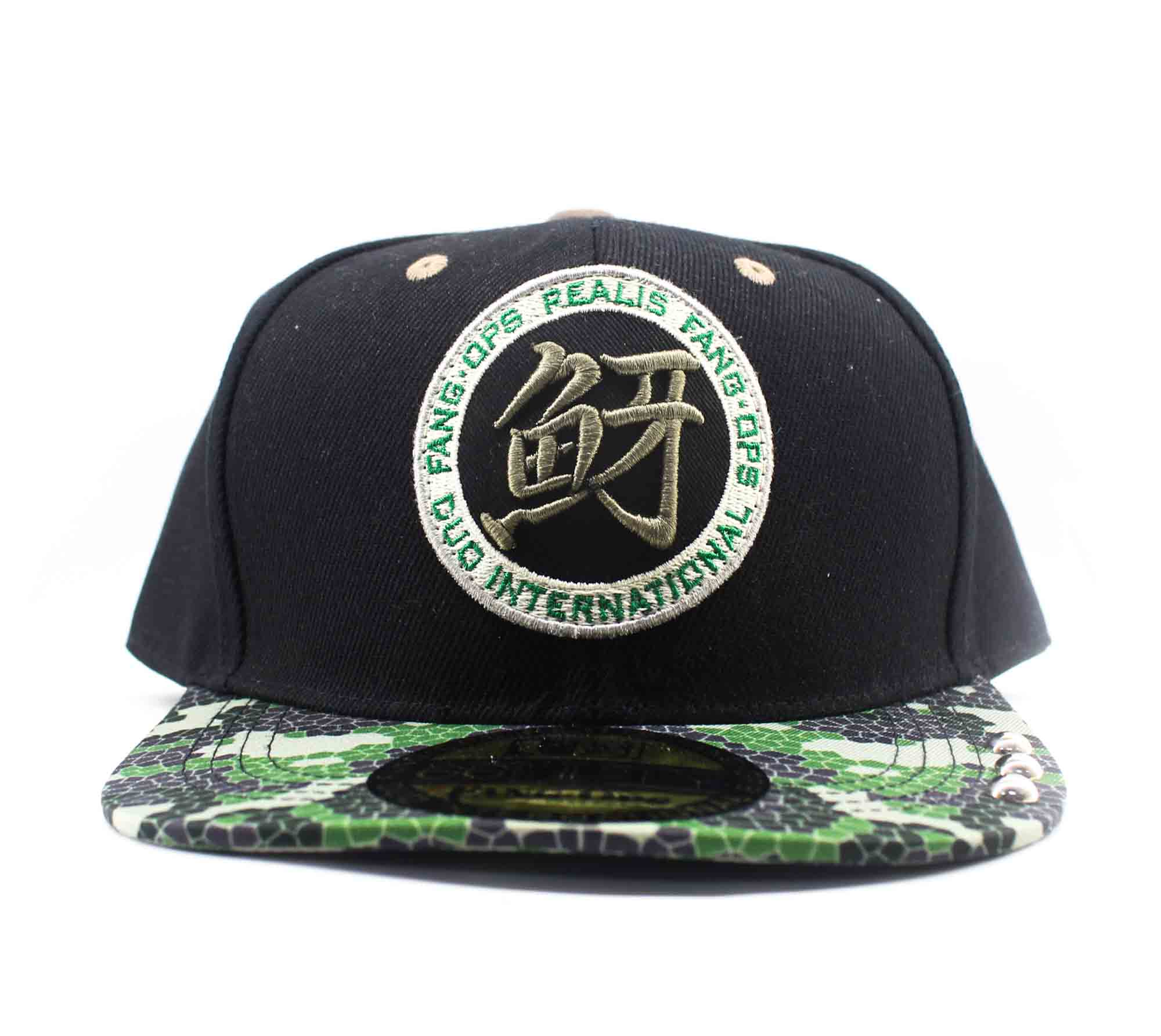 Duo Cap Fang Ops Kanji Solid Original Japan Free Size Black Camo (0260)