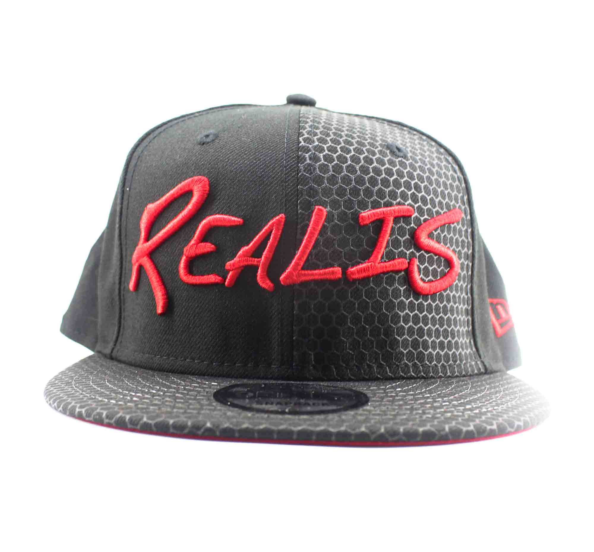 Duo Cap New Era x Realis Cap Free Size Black Red (4649)