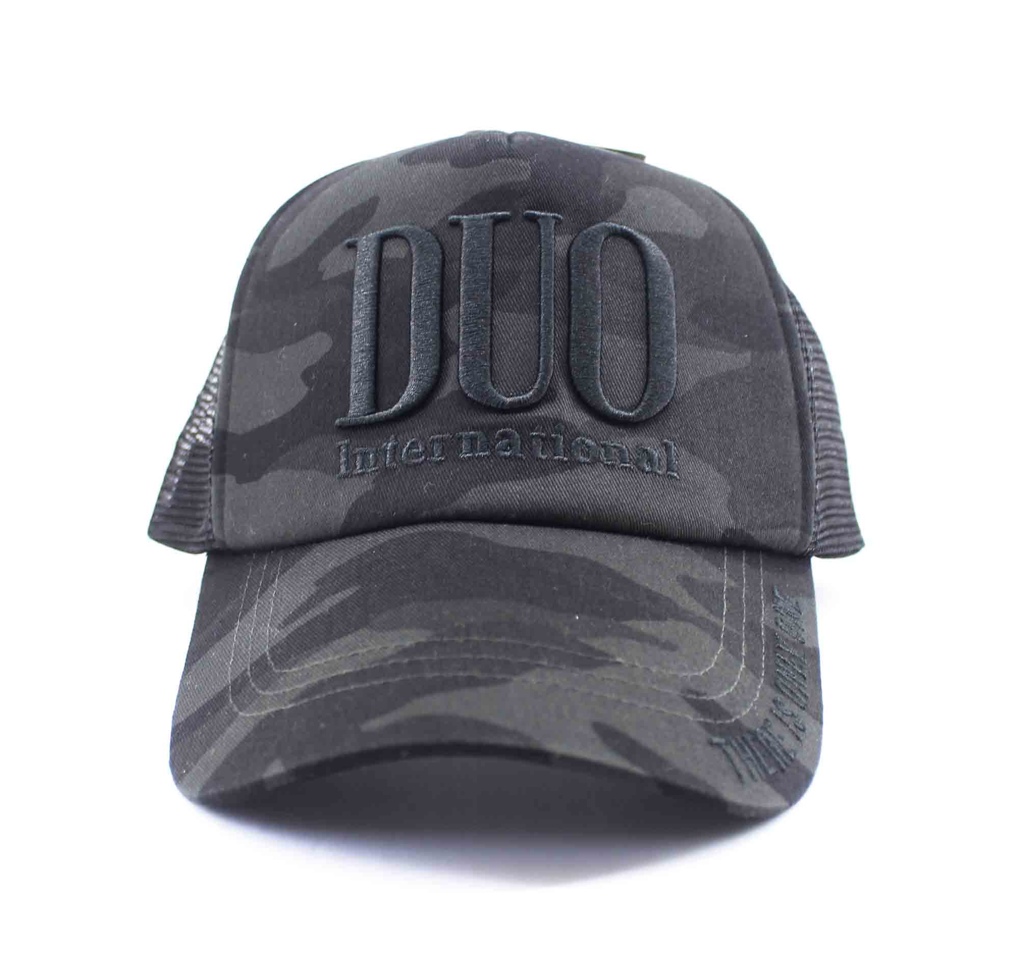 Duo Cap Trucker Cap Original Japan Free Size Black Camo (8005)