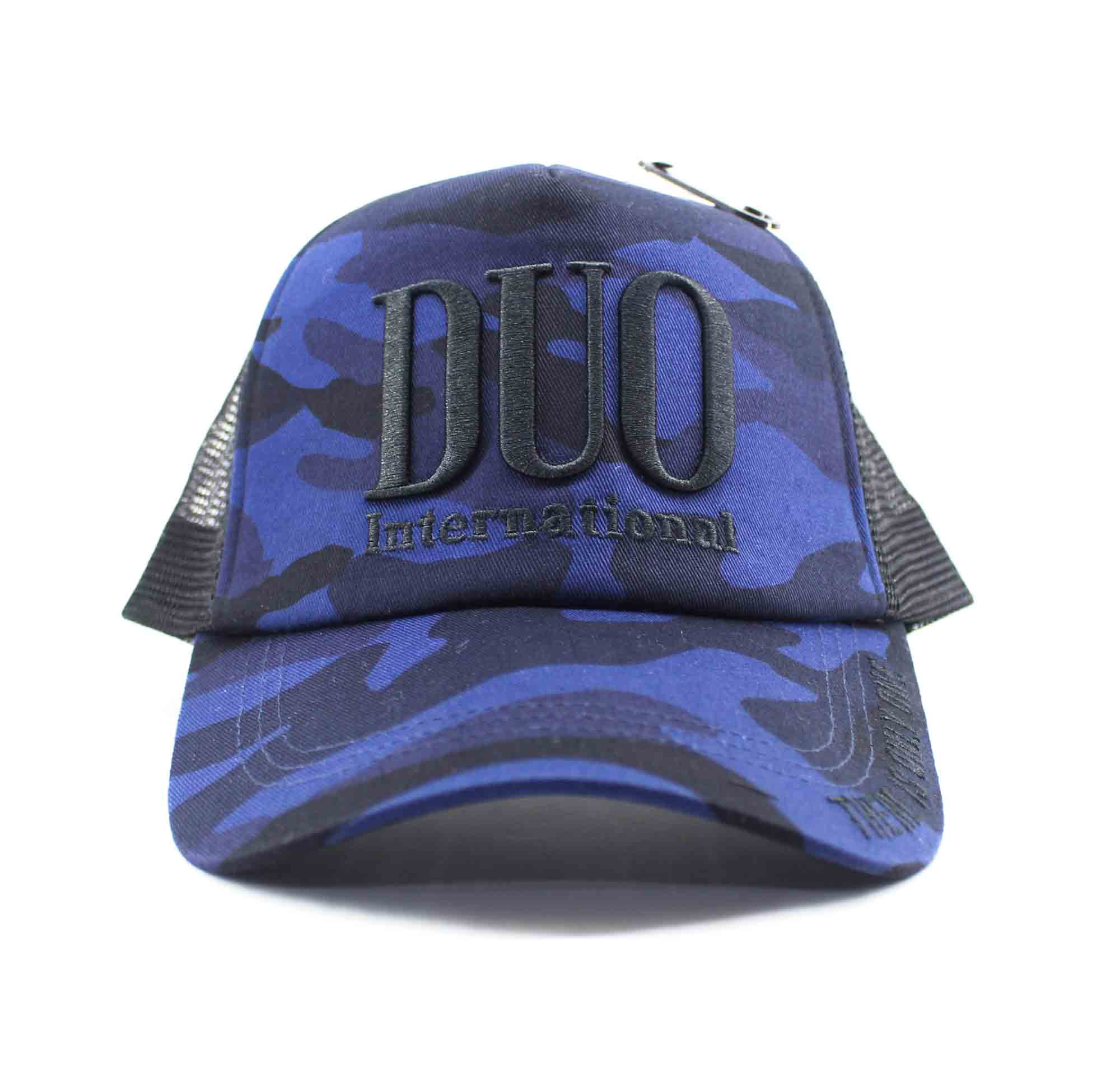 Duo Cap Trucker Cap Original Japan Free Size Blue Camo (8012)