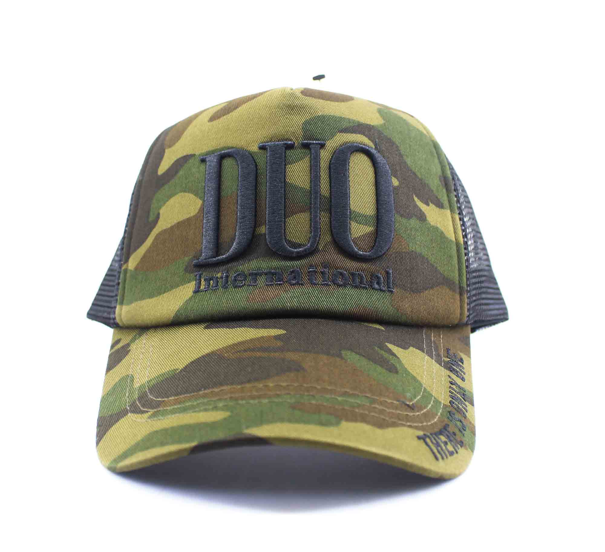 Duo Cap Trucker Cap Original Japan Free Size Green Camo (8029)