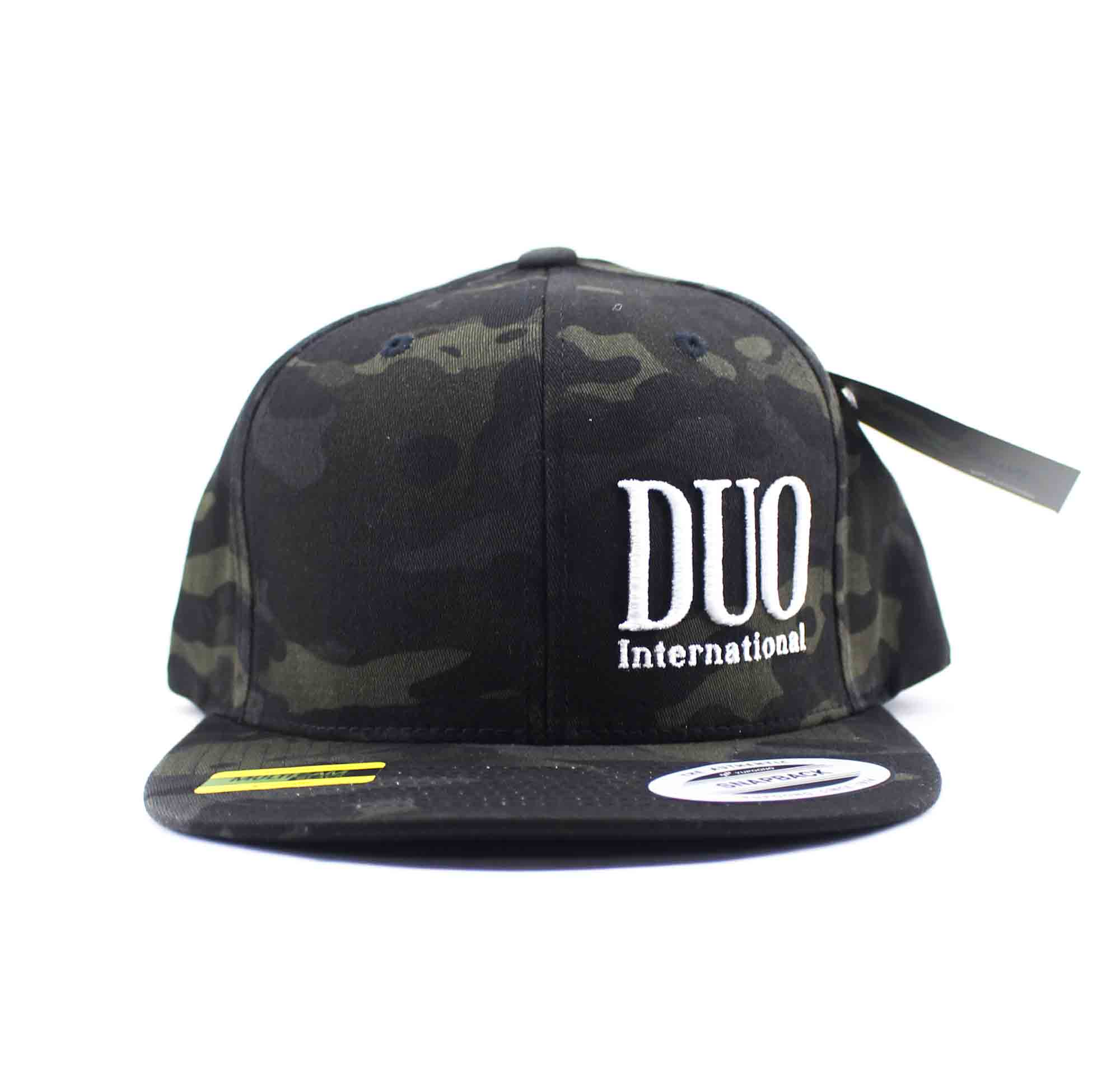 Duo Cap Snapback Cap Original Japan Free Size Black Multicamou (4234)