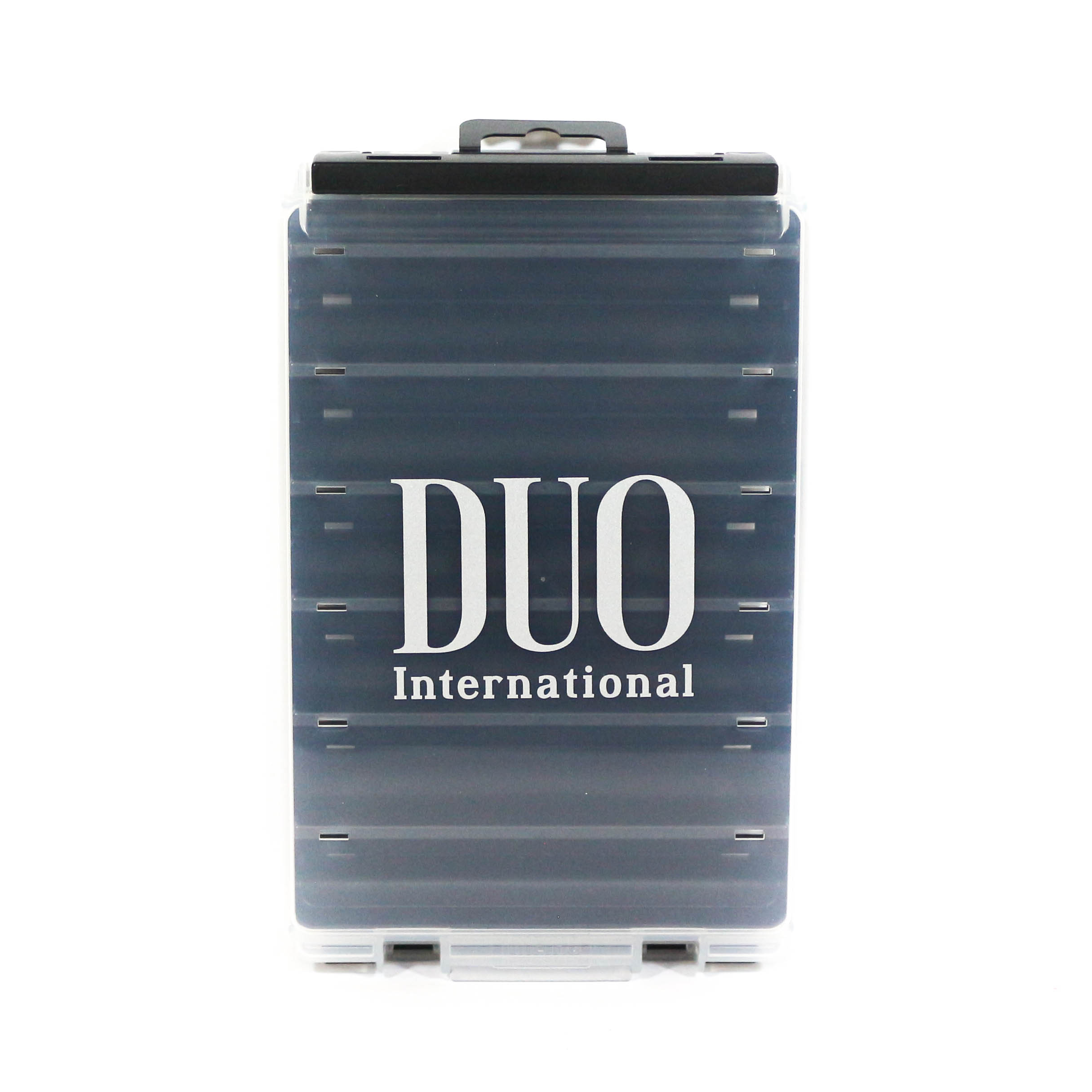 Duo Meiho Tackle Box Reversible 120 120 x 125 x 35 mm Black/Clear (5128)