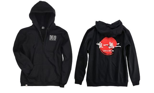 Duo Hoodie Logo Long Sleeve Black Size L Black L (8759)