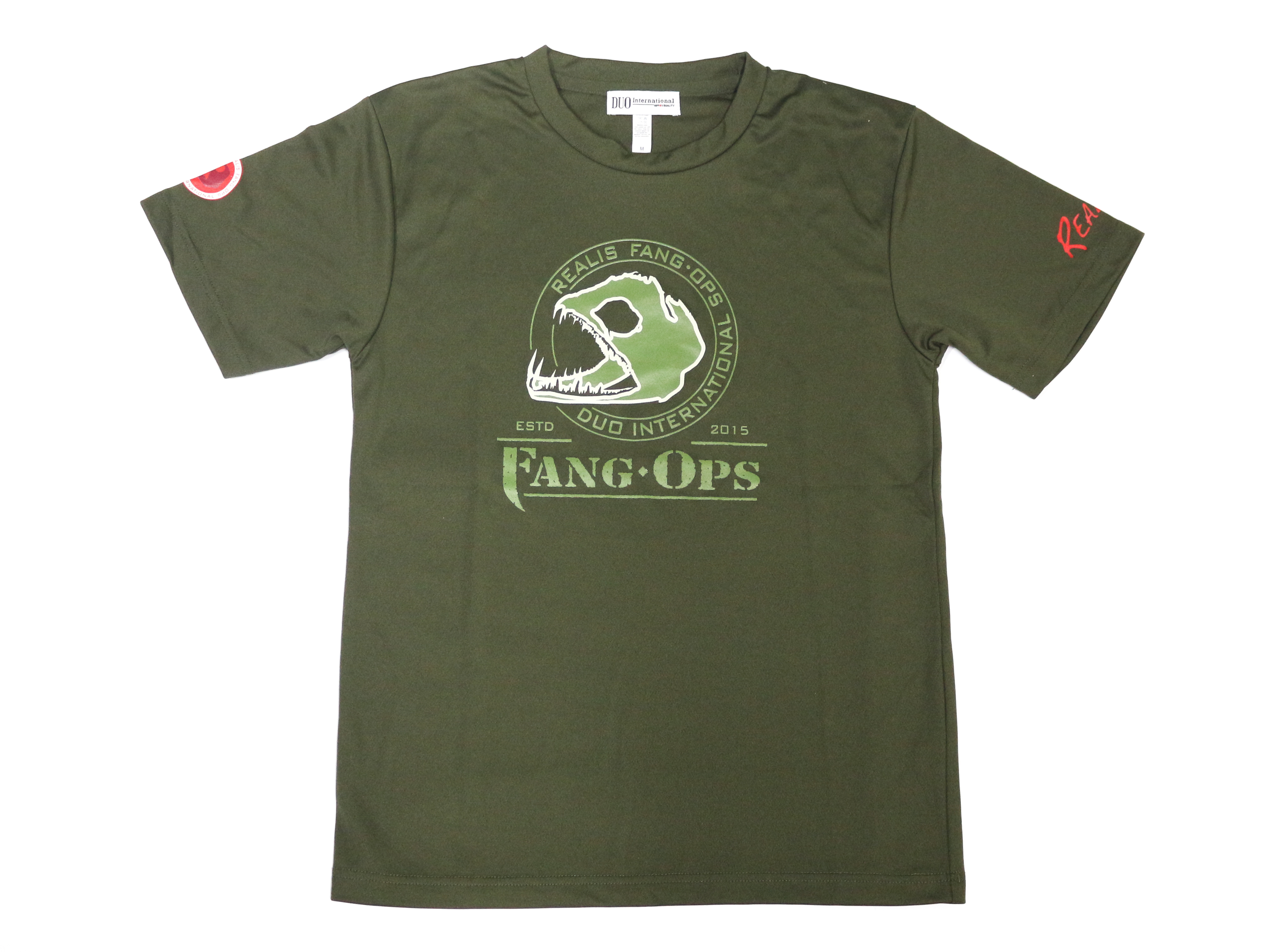 Duo T-Shirt Fang Ops Dry Fit Short Sleeve Size XL Army Green (6540)