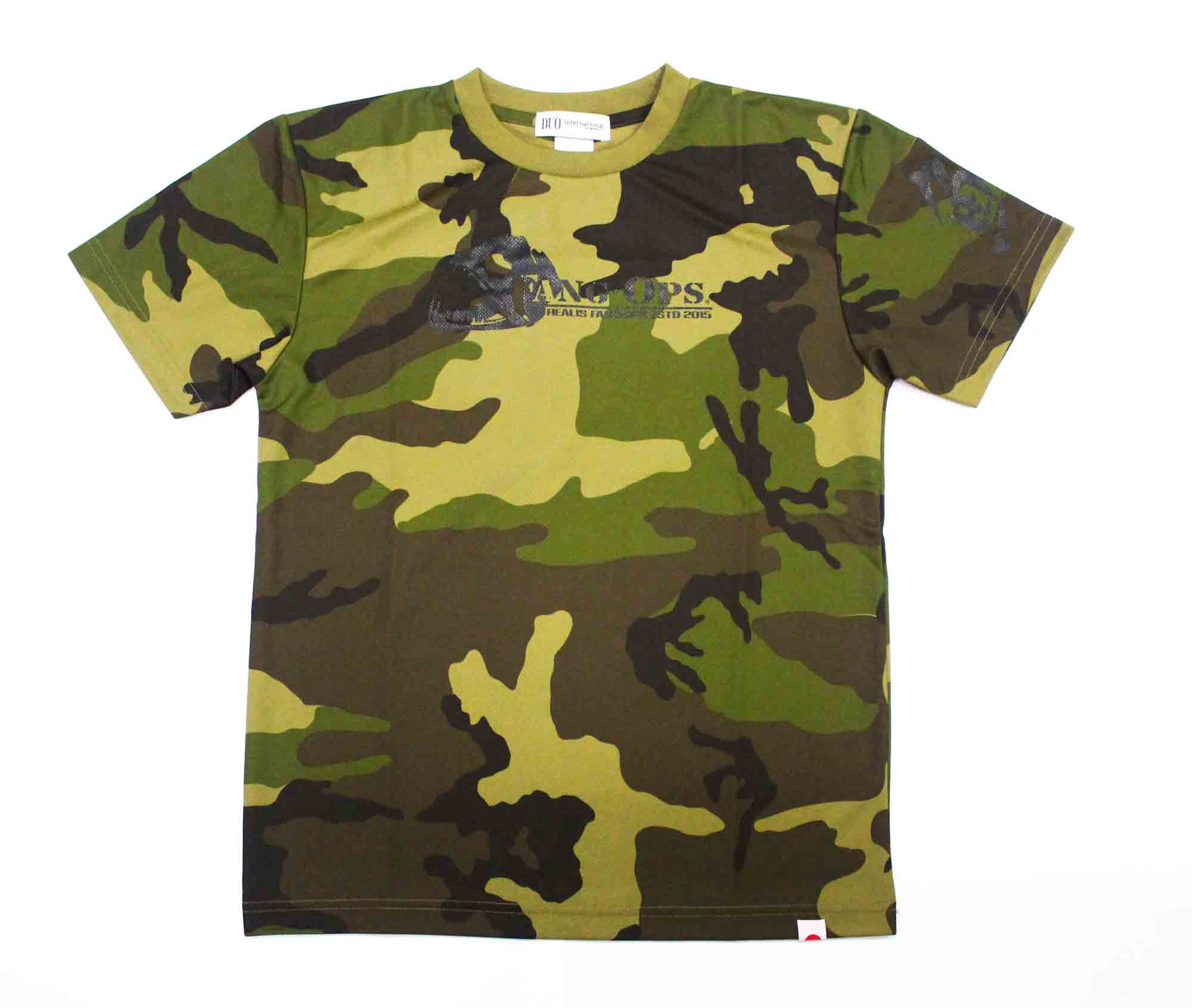 Duo T Shirt Fang Ops Beast Short Sleeve Dry Fit Army Green Size L (1478)