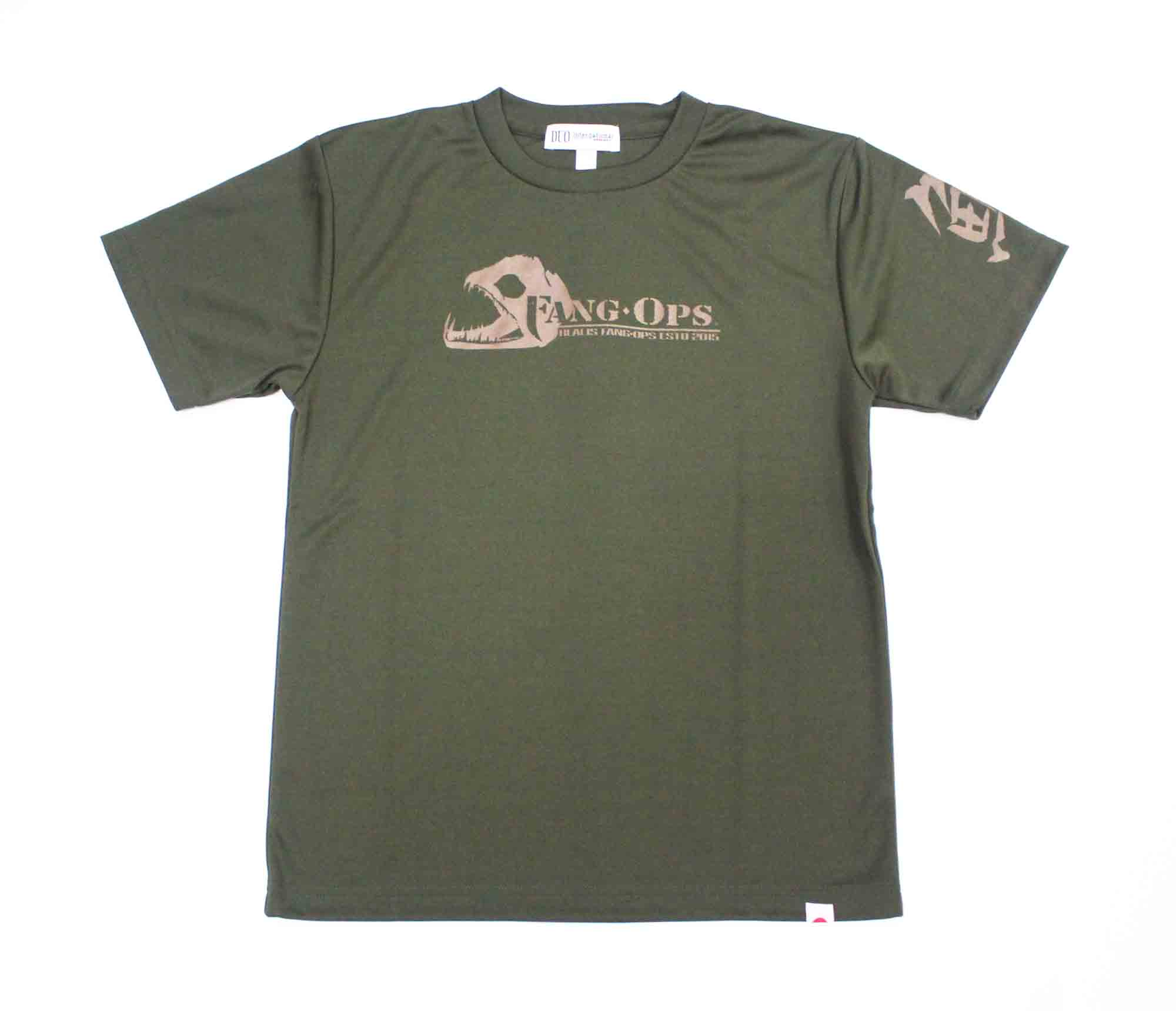 Duo T Shirt Fang Ops Beast Short Sleeve Dry Fit Army Green Size XL (1485)