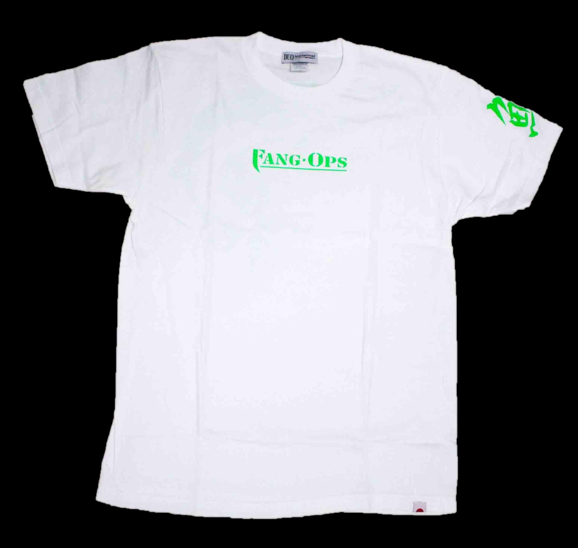 Duo T Shirt Fang Ops Beast Pike Short Sleeve Cotton White Size L (1539)