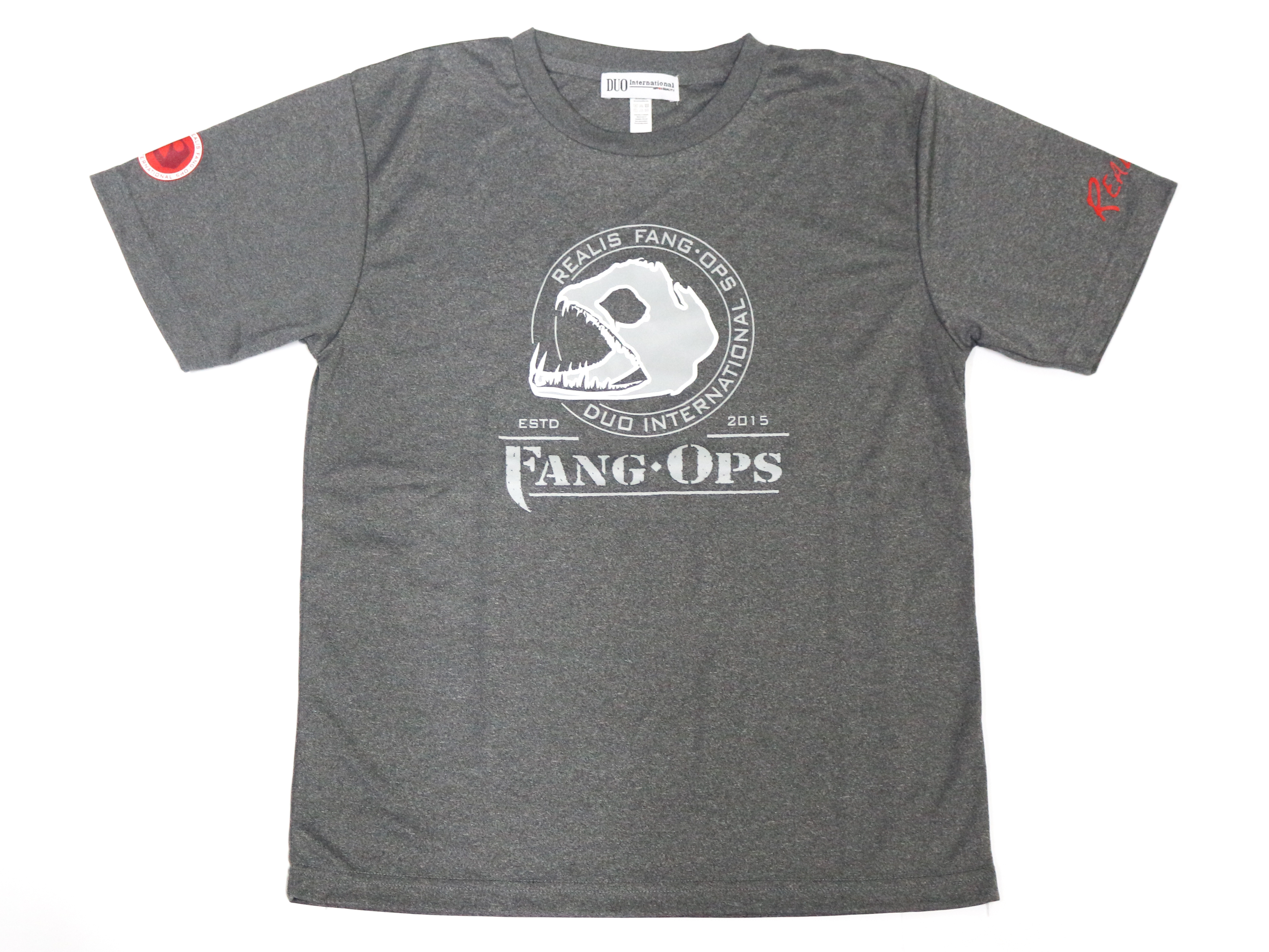 Duo T-Shirt Fang Ops Dry Fit Short Sleeve Size XL Urban Grey (0031)