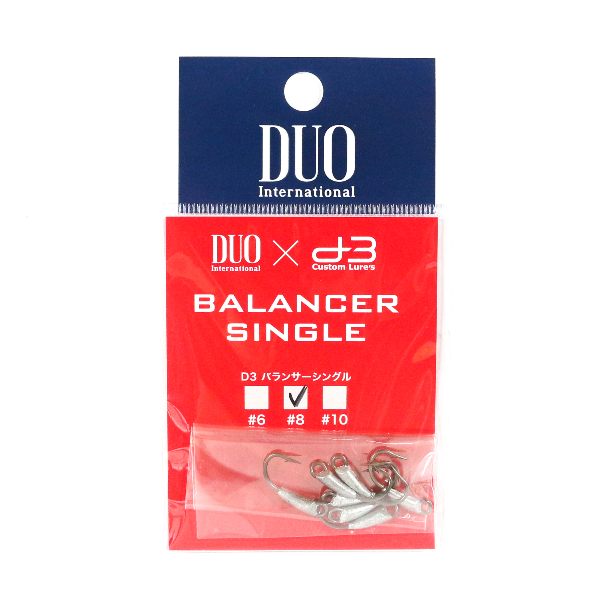 Duo D-3 Balancer Single Hook for Ryuki 60 , 70 Size 8, 7 Pc per pack (8231)