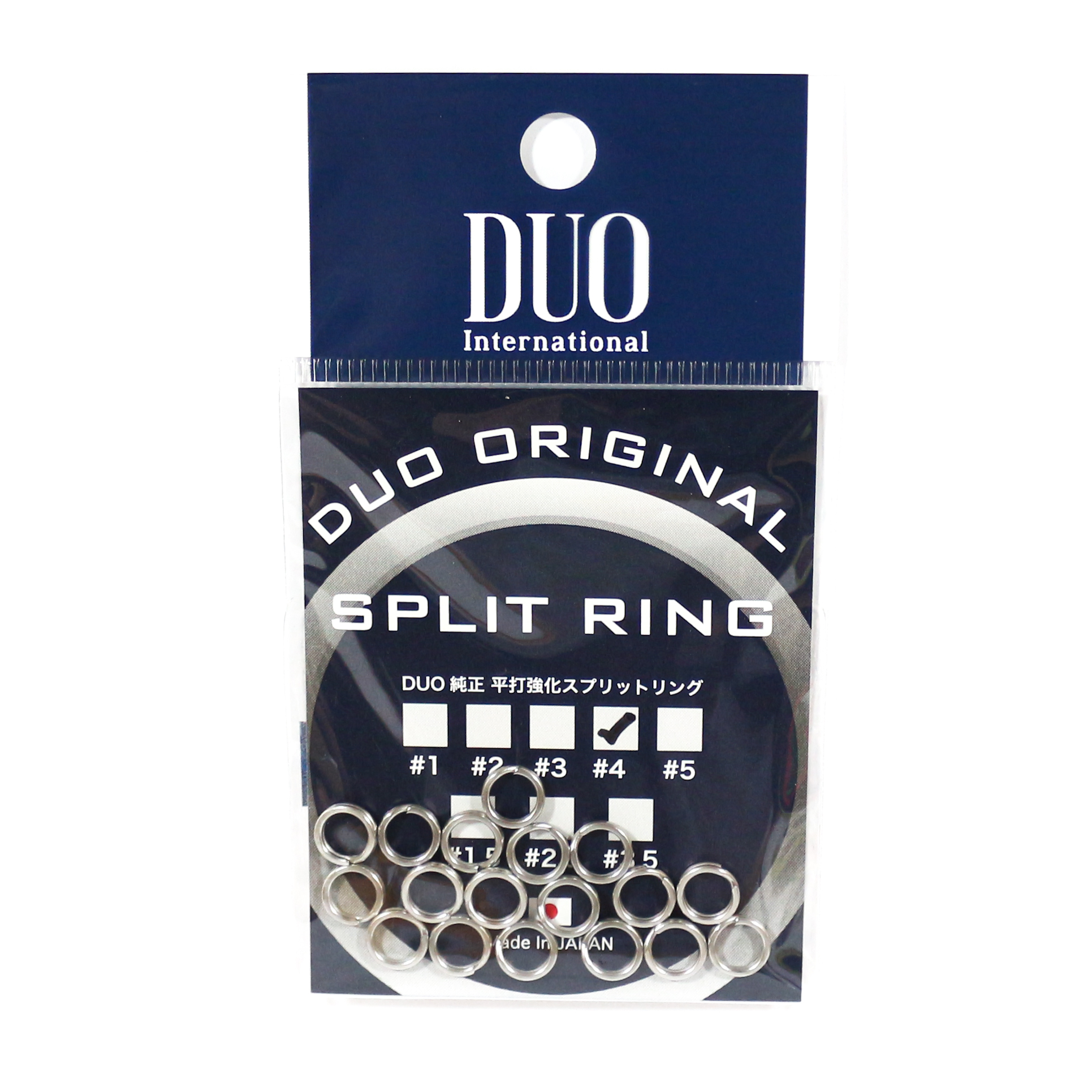 Duo Original Split Rings 18 pieces, Size 4 #4 (7686)
