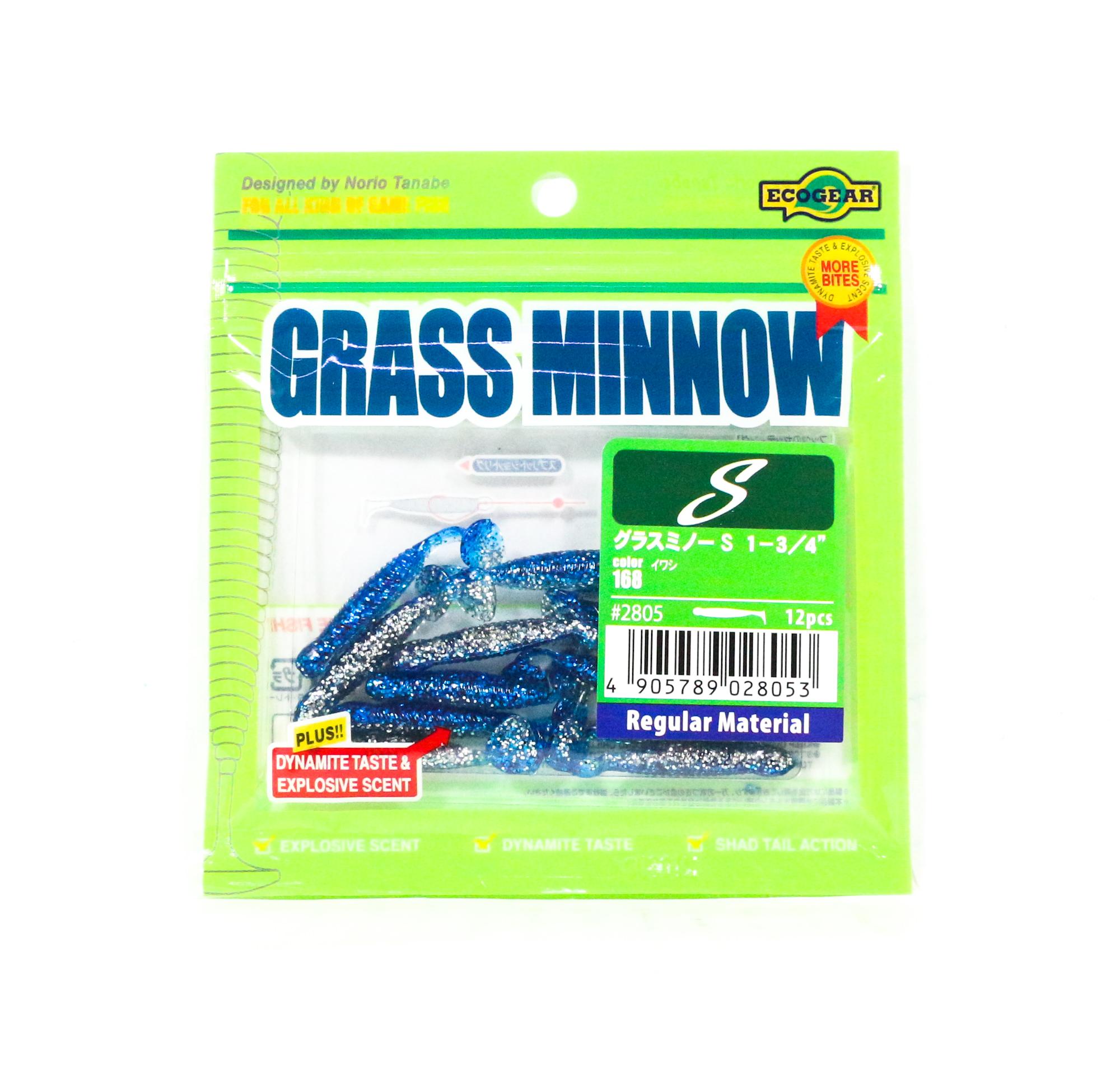 2825 Ecogear Soft Lure Grass Minnow SS 1-1//8 Inch 15 piece per pack 345