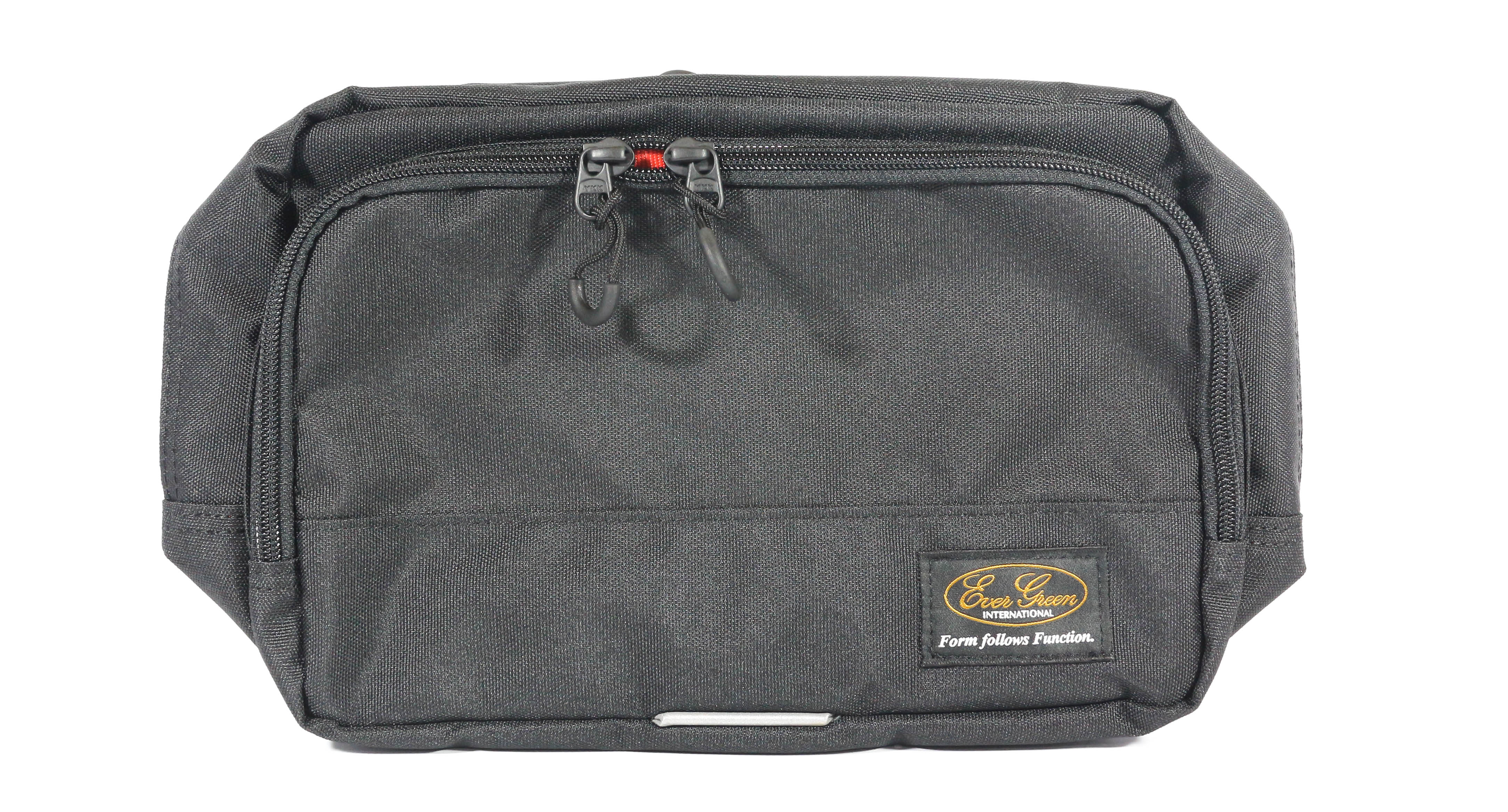 Evergreen Tackle Bag Square Hip Fishing Bag Black (0867)
