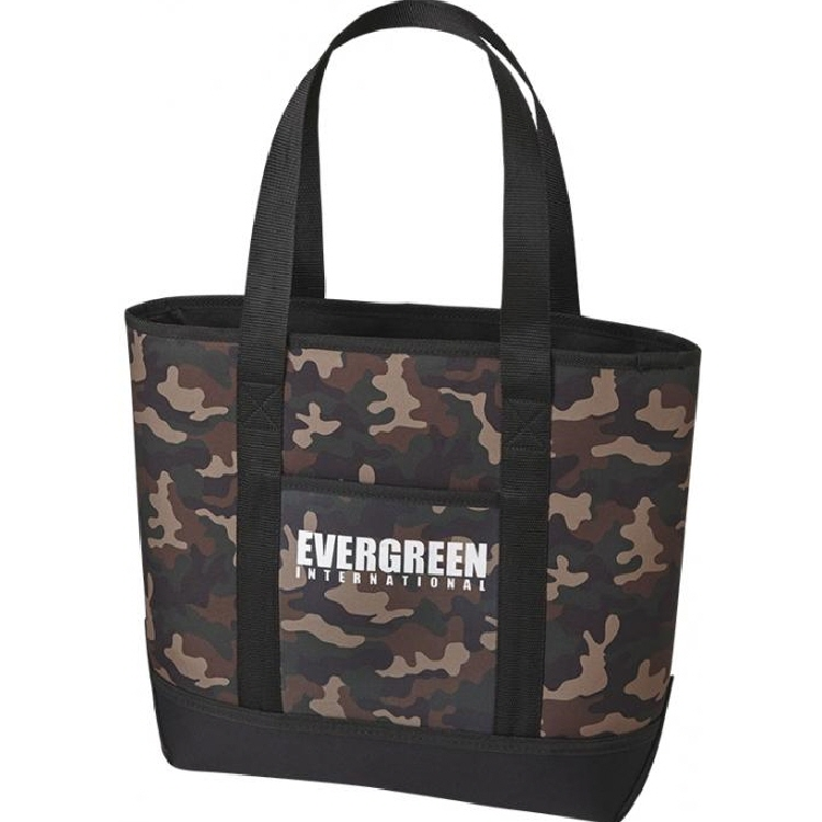 Evergreen Tackle Bag Standup Tote Fishing Bag Green Camo (0014)