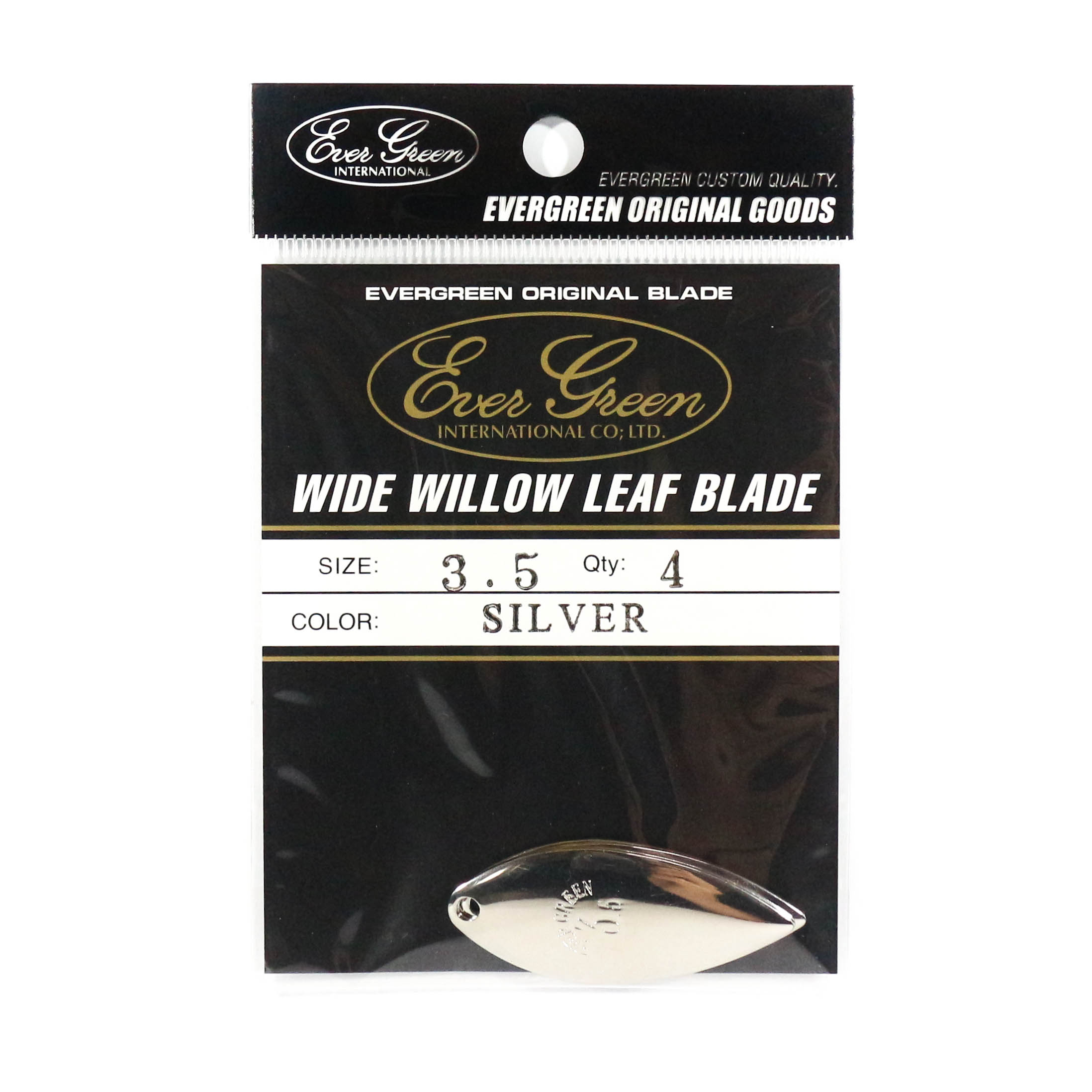 Evergreen Original Lure Wide Willow Blade Silver 3.5 (6332)