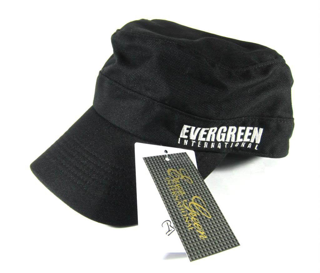Evergreen Cap Work Cap Original Japan Free Size Black (7937)