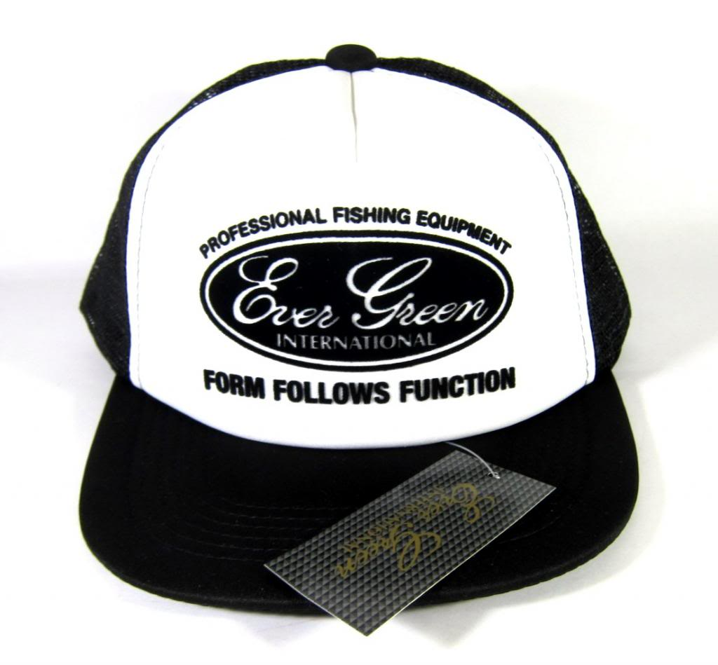 Evergreen Cap Pop Cap Type 3 Original Japan Free Size Black/White (7172)