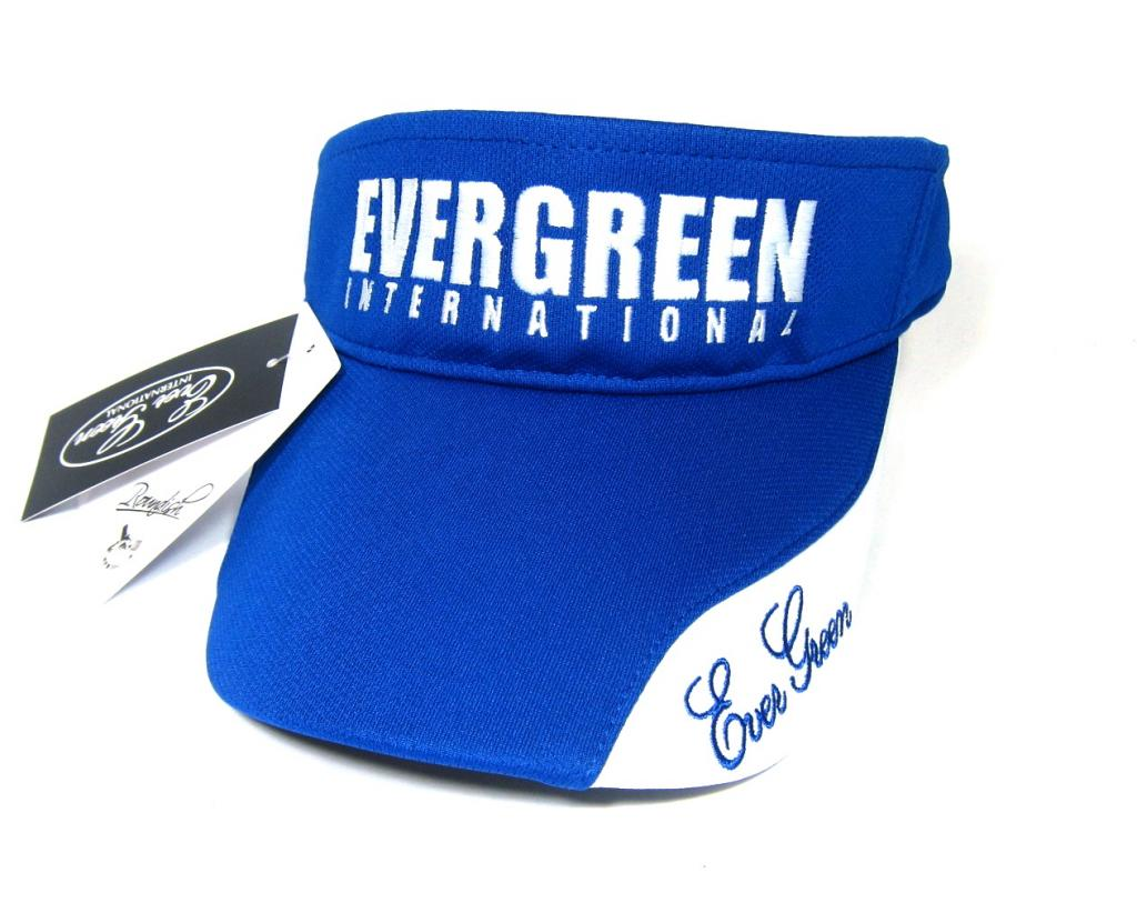 Evergreen Cap Sun Visor Type 2 Japan Free Size Blue (7790)