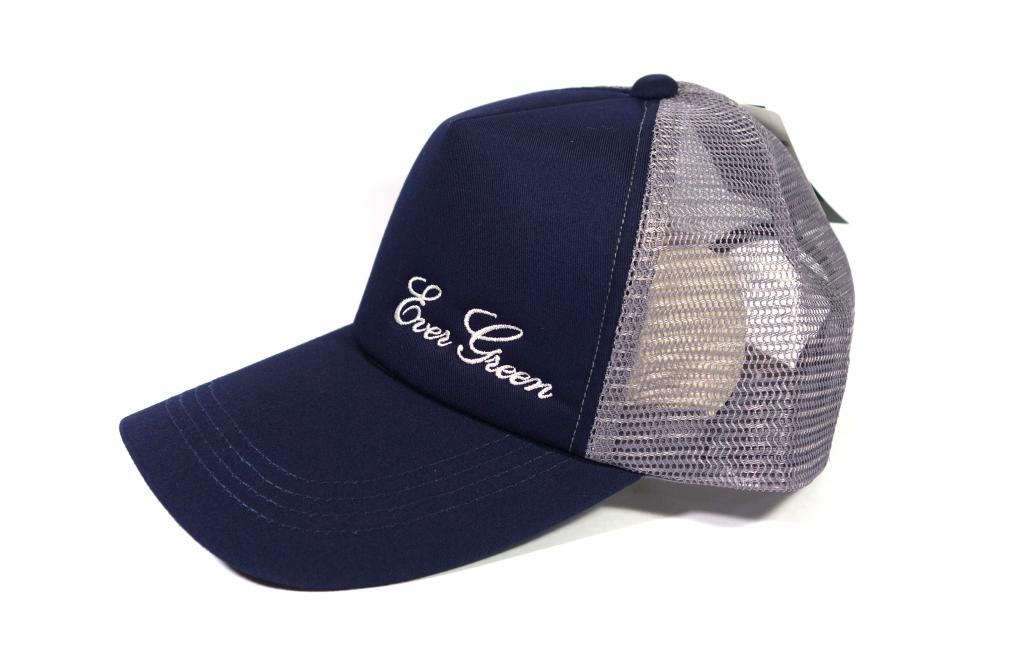 Evergreen Cap Mesh Cap Original Japan Free Size Navy Gray (2381)