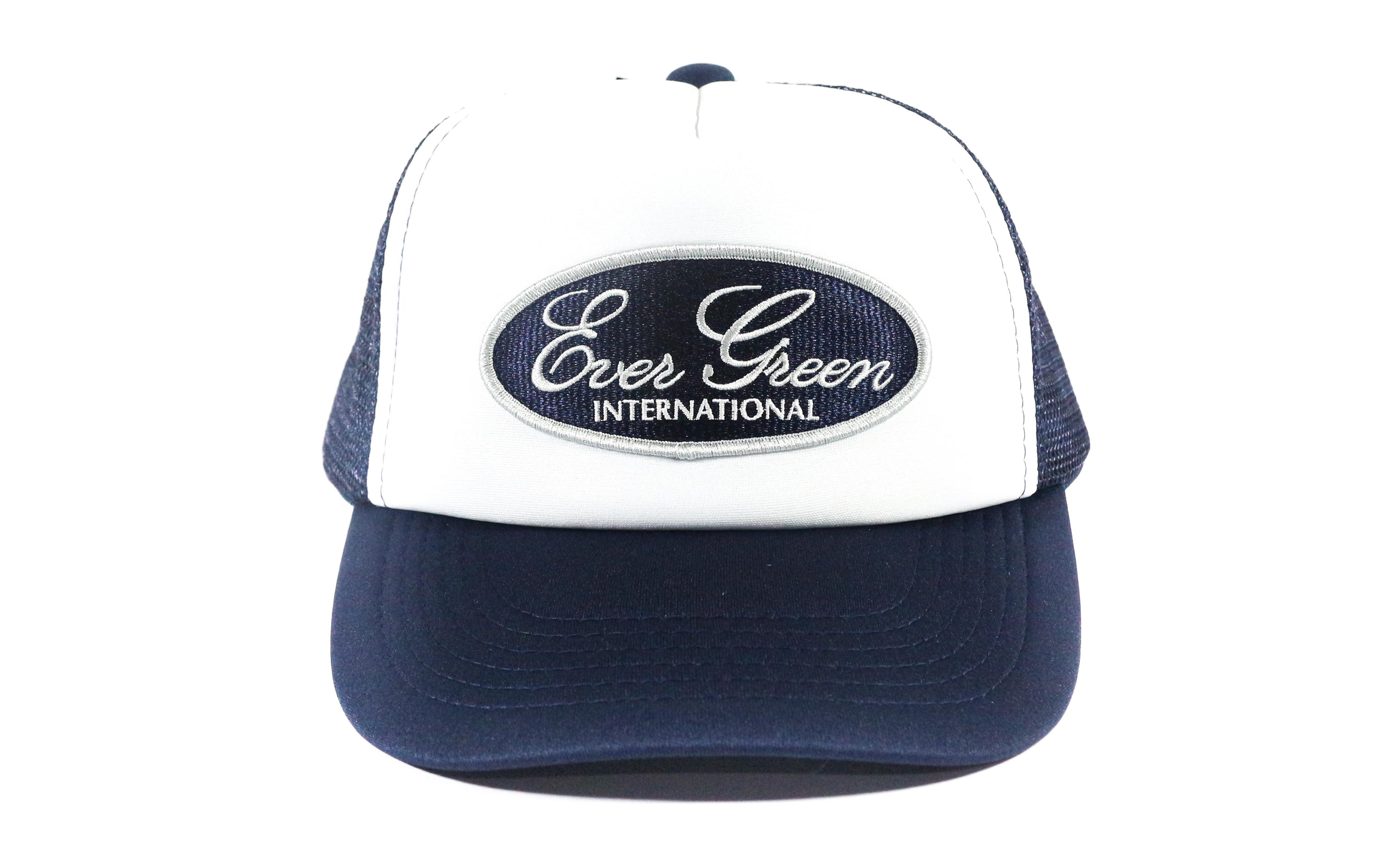 Evergreen Cap Mesh Emblem Cap Navy White (6155)