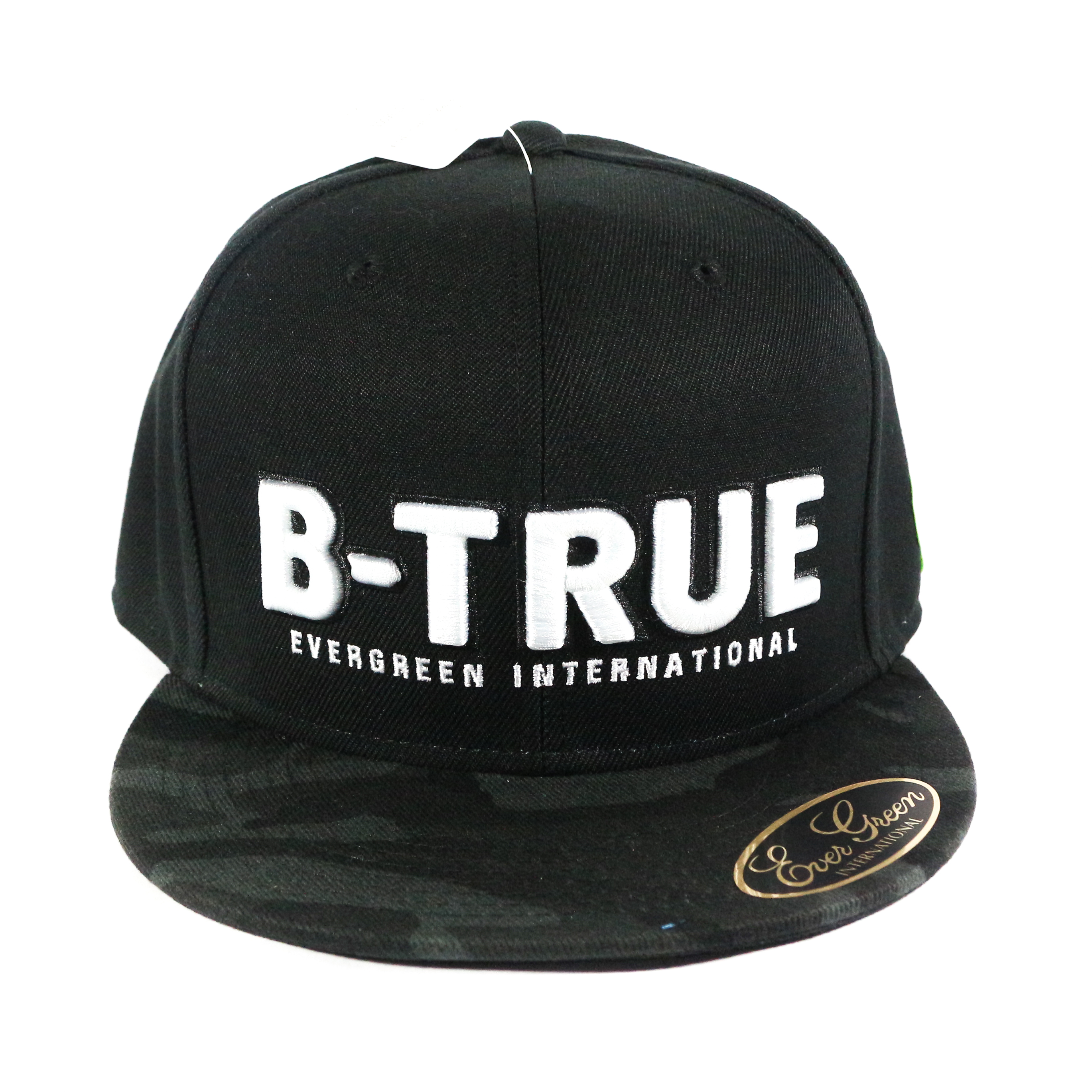 Evergreen Cap Flat Cap B-True Type A Japan Free Size Black Camou (9873)