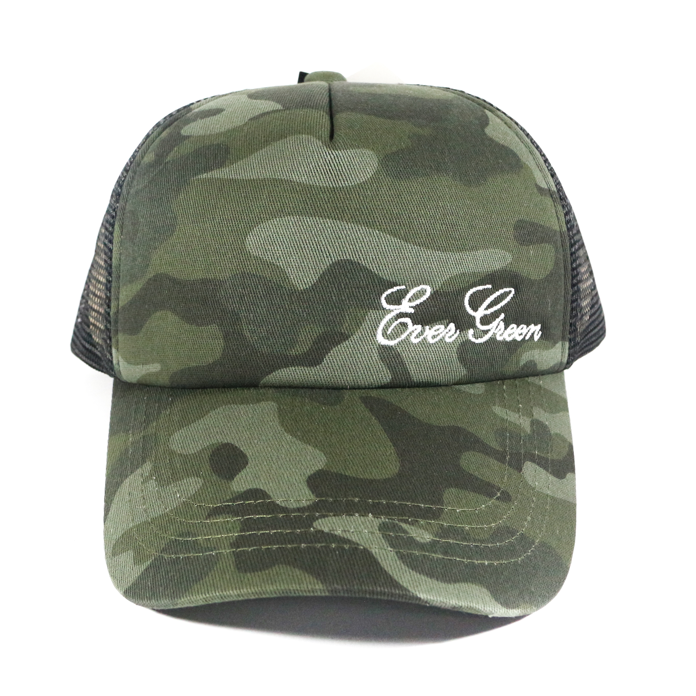 Evergreen Cap Mesh Cap Original Japan Free Size Black Camou (9910)