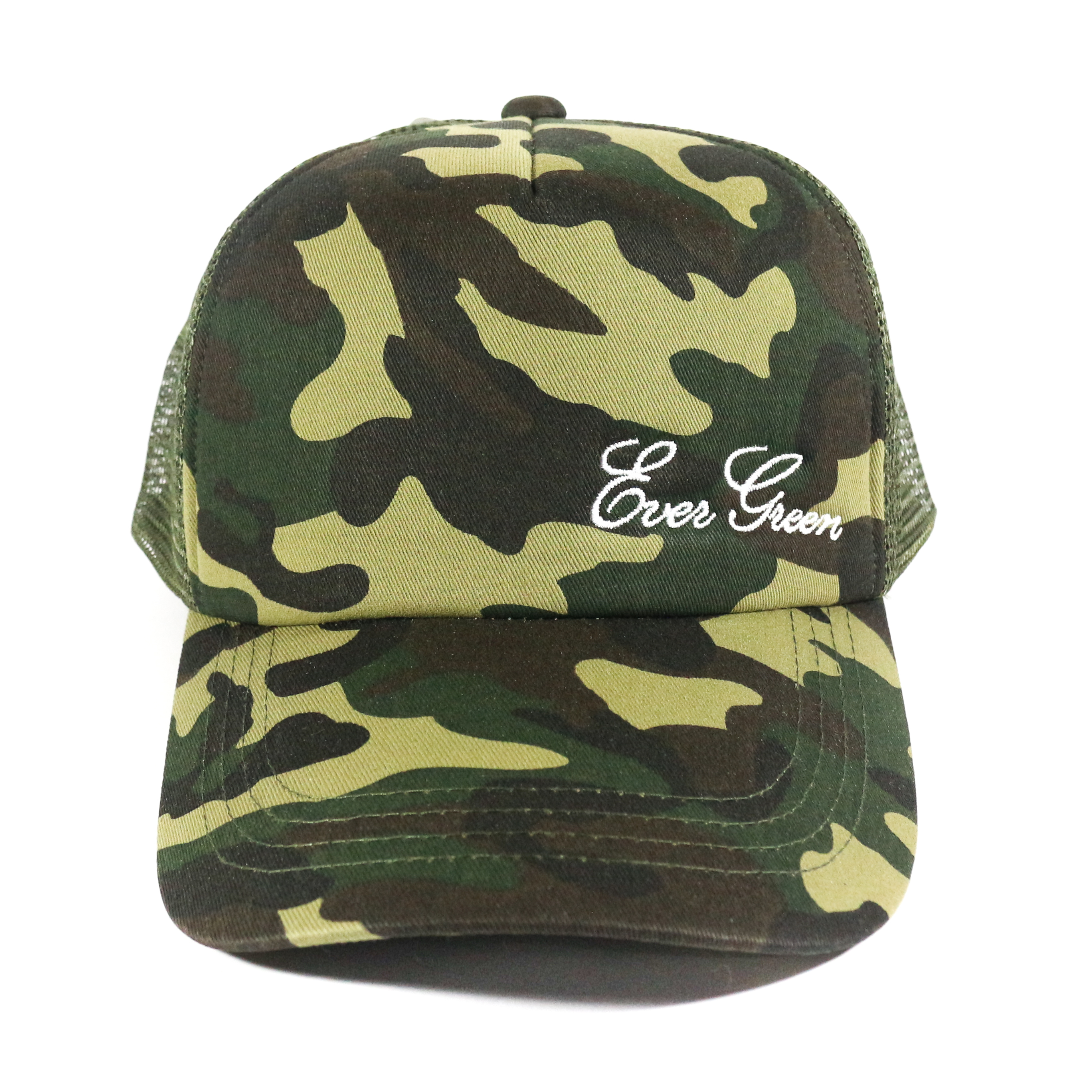 Evergreen Cap Mesh Cap Original Japan Free Size Green Camou (9927)