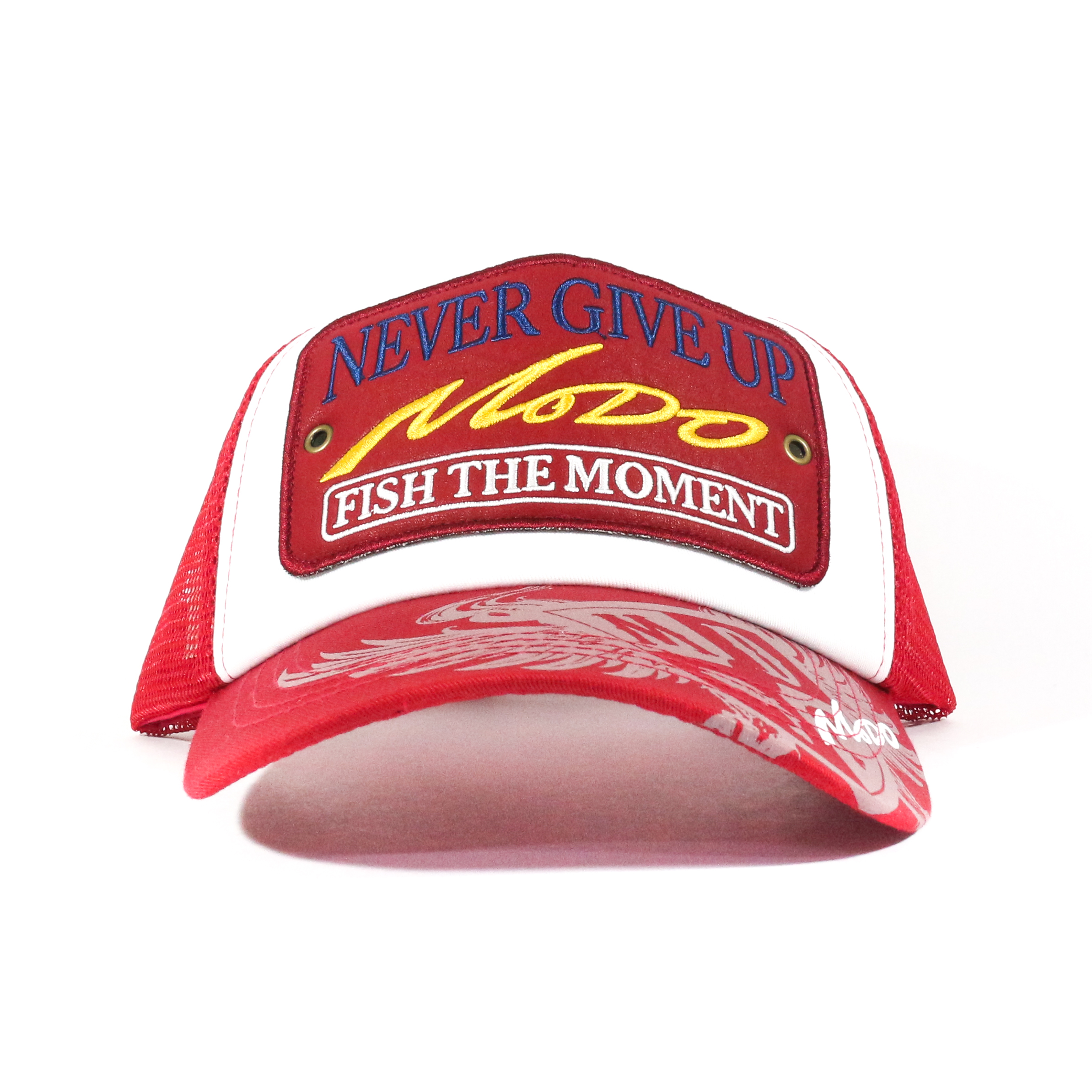 Evergreen Cap Modo Mesh Cap Type 3 Japan Free Size Red White (2750)