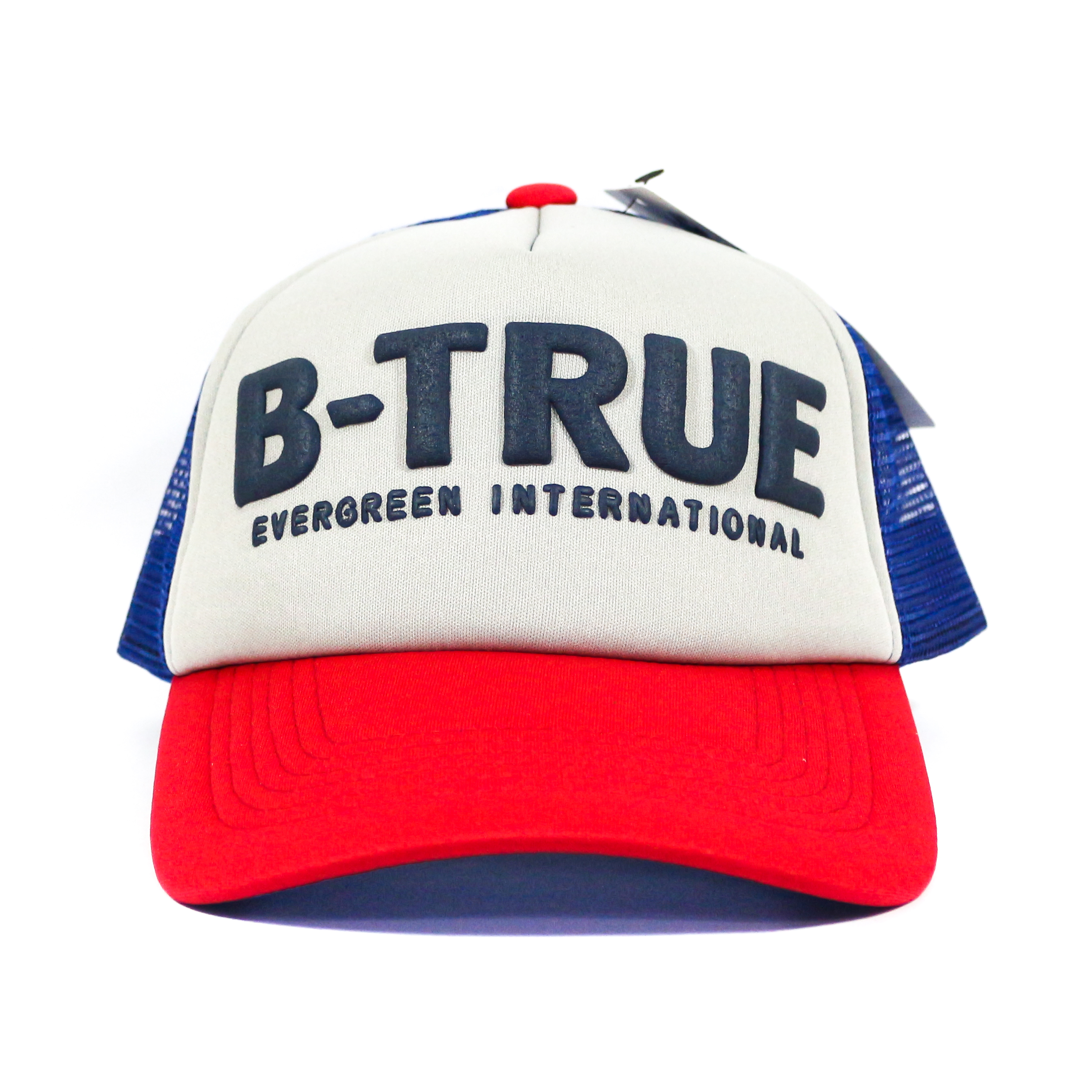 Evergreen Mesh Cap B-True Japan Free Size Red Gray Blue (5133)
