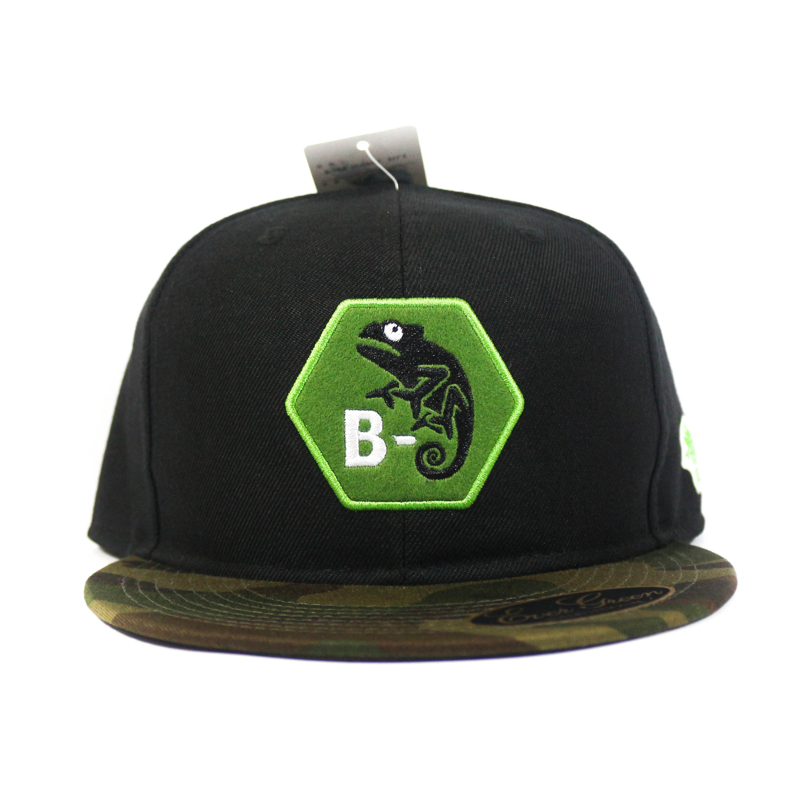 Evergreen Cap Flat Cap B-True Type C Japan Free Size Green Camo x Black (6369)