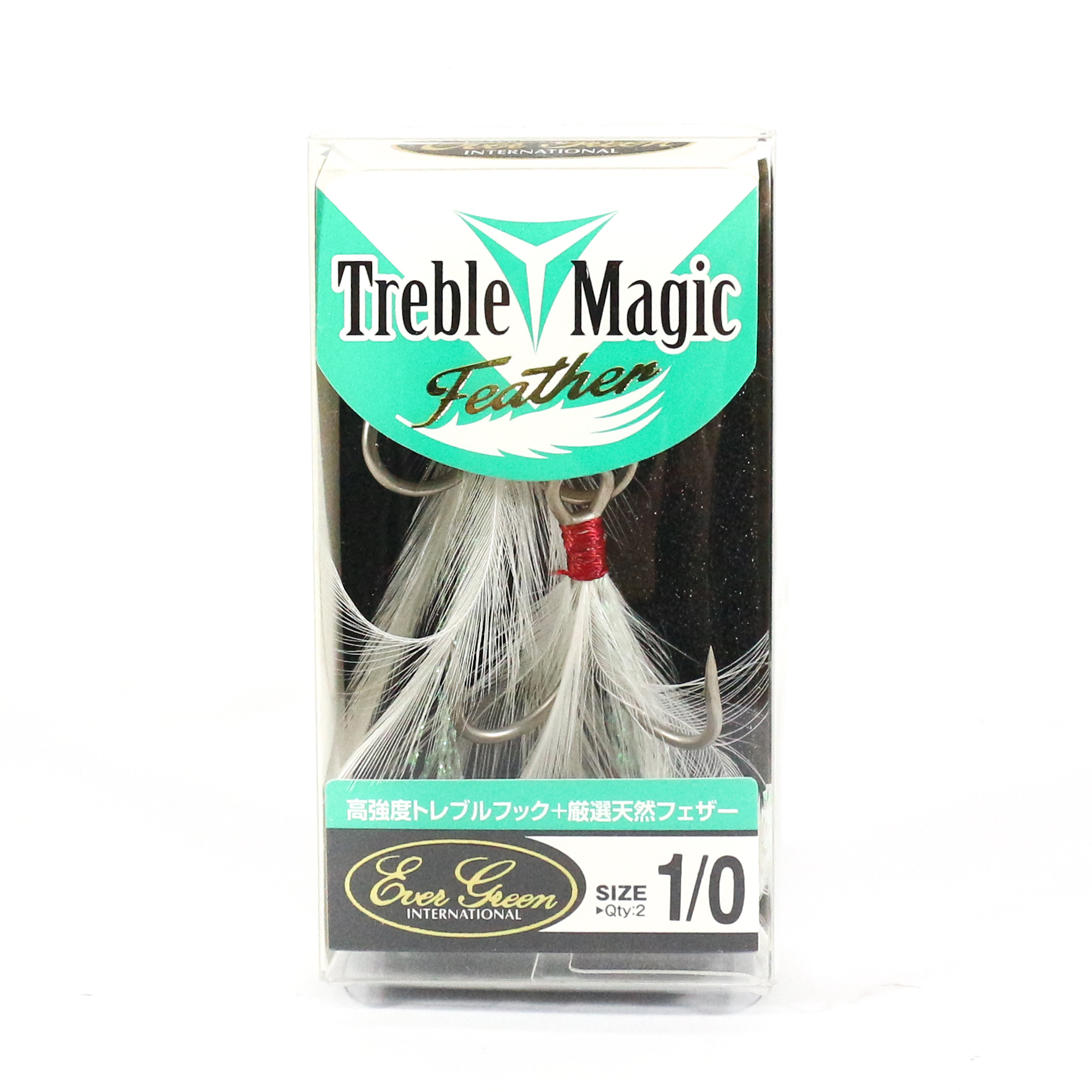 Evergreen Treble Hooks Treble Magic Feather Size 1/0 (4090)