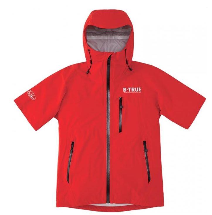 Sale Evergreen Rain Jacket Stretch Short Sleeve B-True Size M Red (6784)