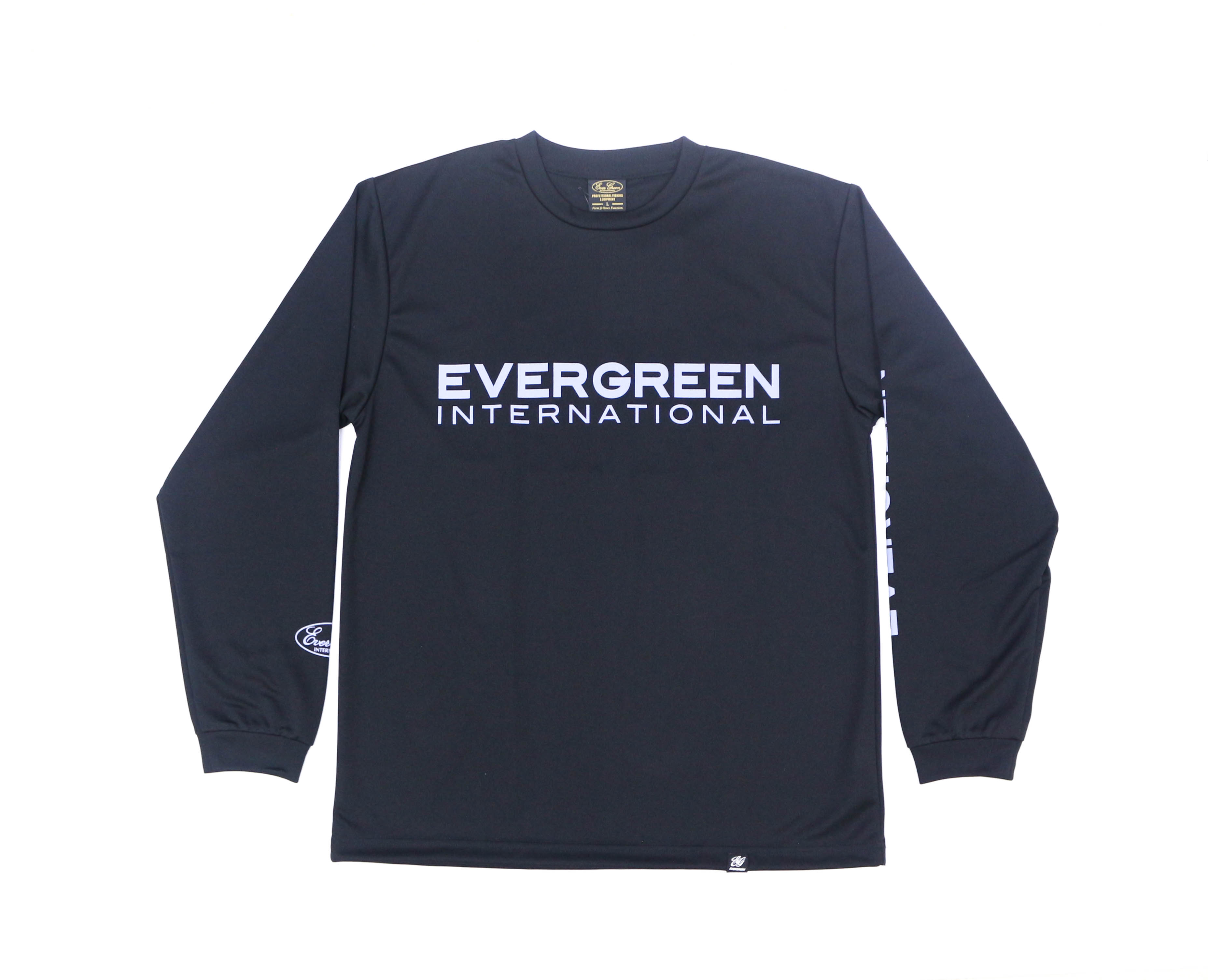 Evergreen T-Shirt Dry Fit Long Sleeve D Type Size XL Black (0929)