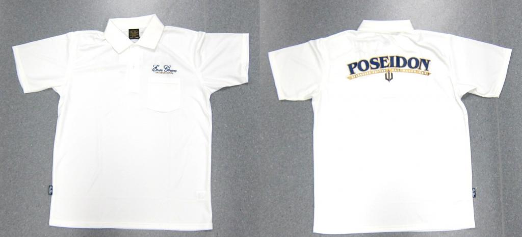 Evergreen Polo Shirt Dry Fit Short Sleeve Poseidon Type B Size XXL Wh(1988)