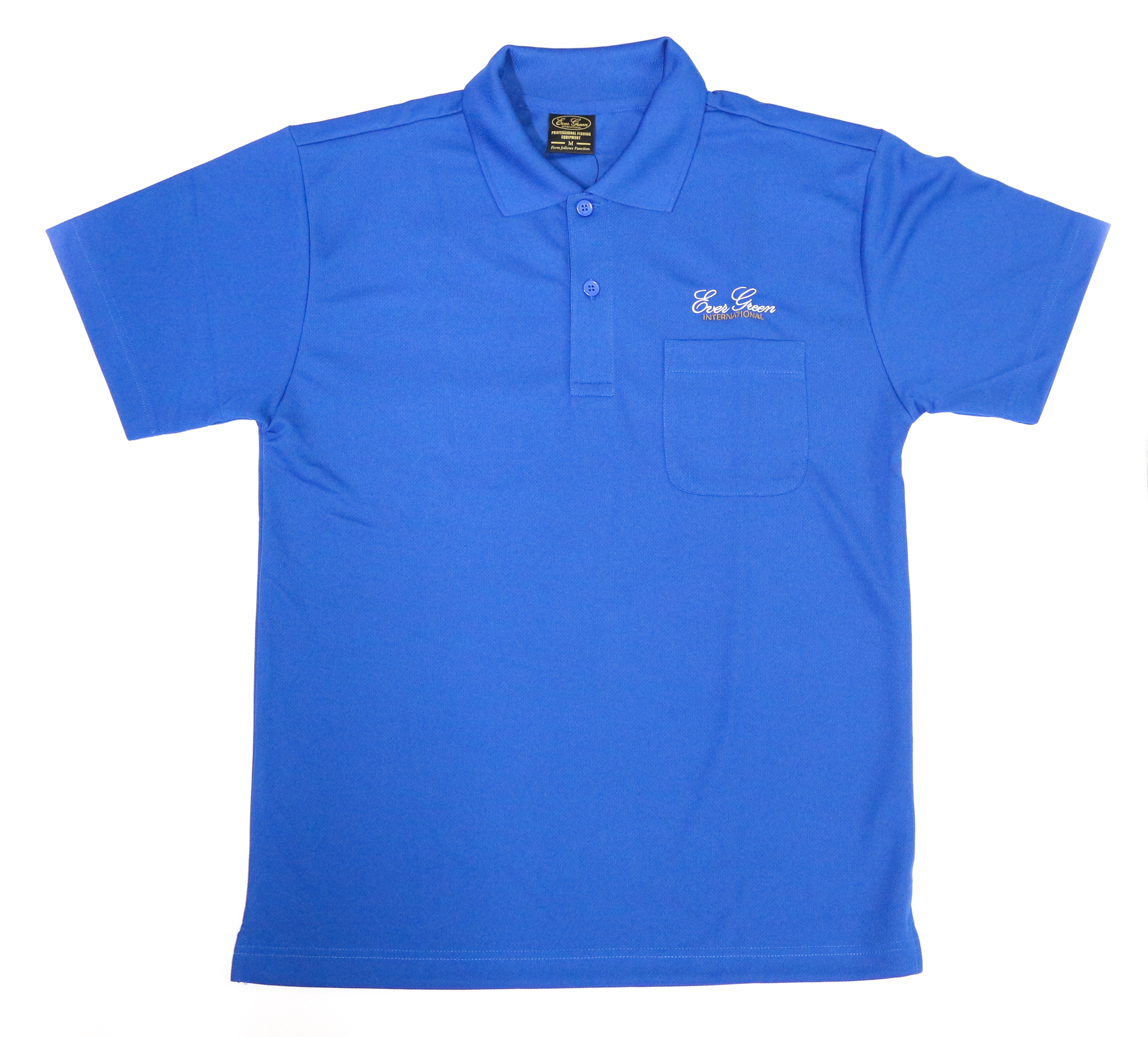 Evergreen Polo Shirt Dry Fit Short Sleeve Poseidon Type B Size M Blue (5794)