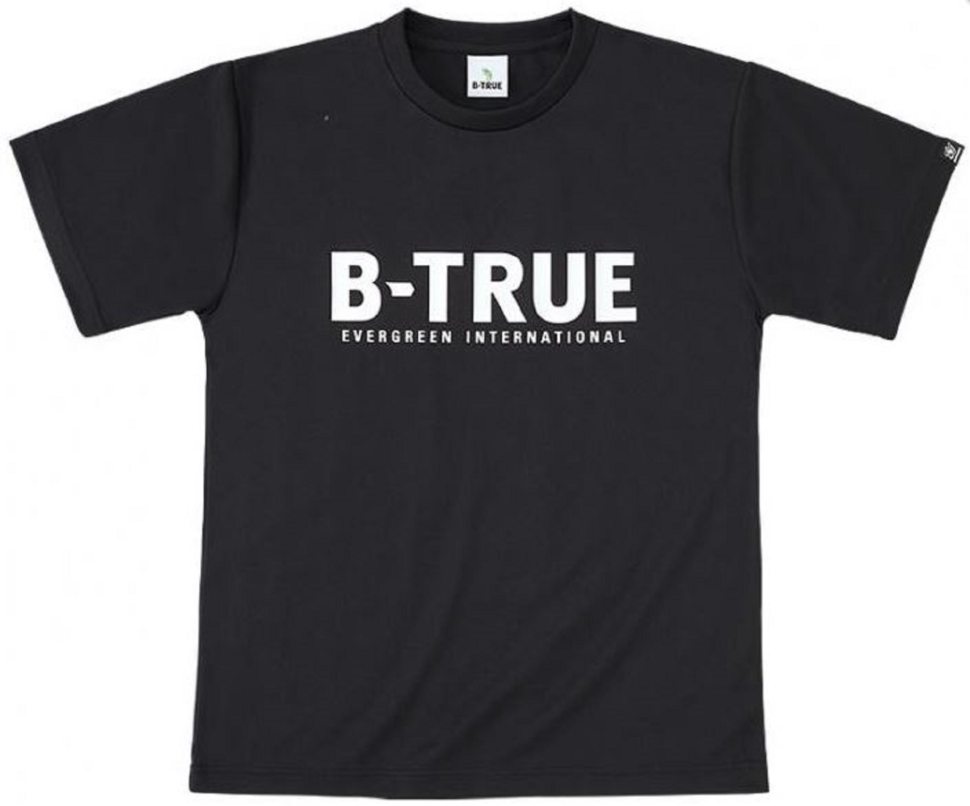 Evergreen T-Shirt Dry Fit Short Sleeve B-True A Type Size S Black (7671)